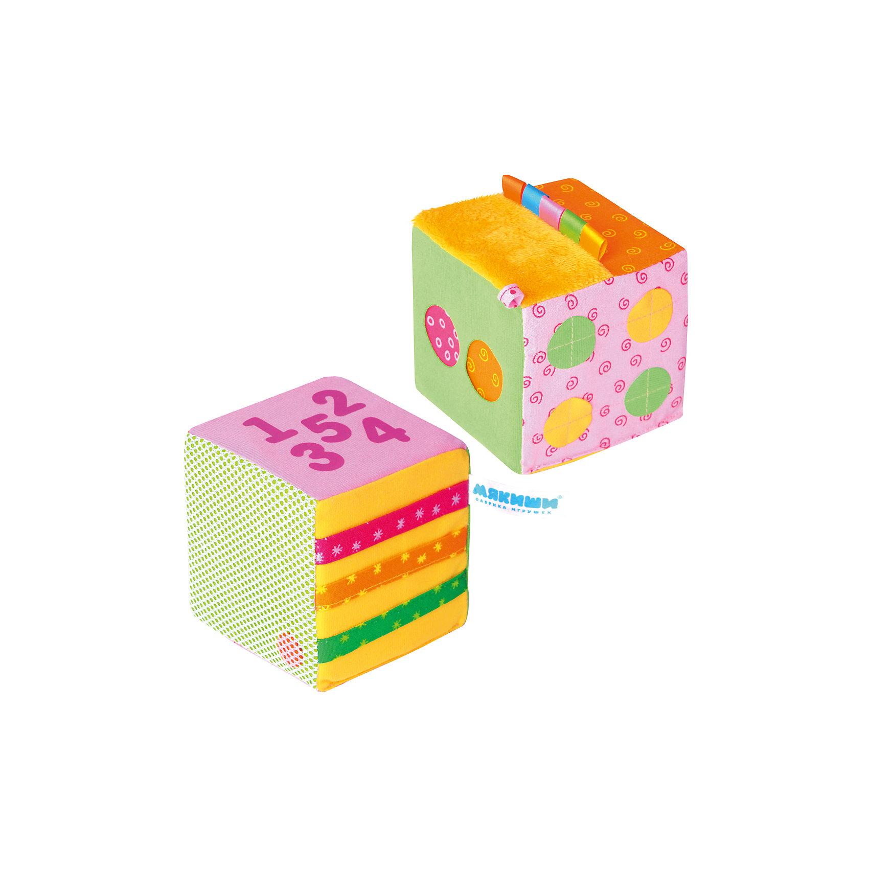 Математический кубик, МякишиХарактеристики товара:<br><br>• материал: разнофактурный текстиль, поролон<br>• комплектация: 1 шт<br>• размер кубика: 10 см<br>• размер упаковки: 14 x 28 x 10 см<br>• развивающая игрушка<br>• звуковой элемент в одном кубике<br>• упаковка: пакет<br>• страна бренда: РФ<br>• страна изготовитель: РФ<br><br>Малыши активно познают мир и тянутся к новой информации. Чтобы сделать процесс изучения окружающего пространства интереснее, ребенку можно подарить развивающие игрушки. В процессе игры информация усваивается намного лучше!<br>Такие кубики помогут занять малыша, играть ими приятно и весело. Одновременно они позволят познакомиться с математикой. Такие игрушки развивают тактильные ощущения, моторику, цветовосприятие, логику, воображение, учат фокусировать внимание. Каждое изделие абсолютно безопасно – оно создано из качественной ткани с мягким наполнителем. Игрушки производятся из качественных и проверенных материалов, которые безопасны для детей.<br><br>Математический кубик от бренда Мякиши можно купить в нашем интернет-магазине.<br><br>Ширина мм: 100<br>Глубина мм: 100<br>Высота мм: 100<br>Вес г: 140<br>Возраст от месяцев: 12<br>Возраст до месяцев: 36<br>Пол: Унисекс<br>Возраст: Детский<br>SKU: 5183224