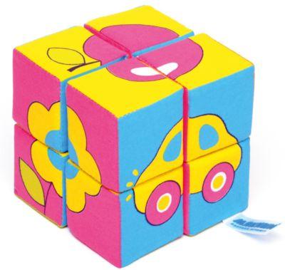 Кубики Собираем картину - предметы , Мякиши