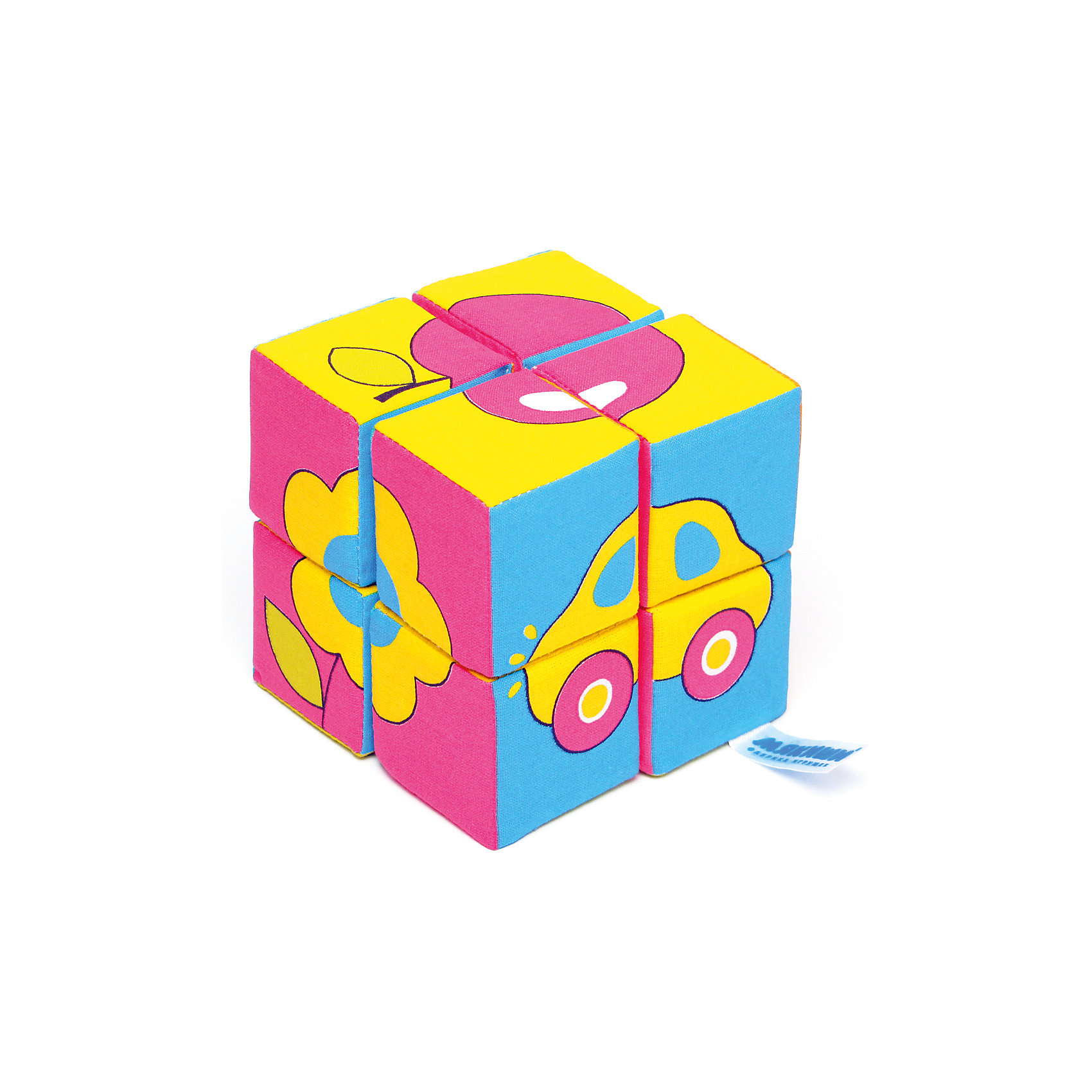 Кубики Собираем картину - предметы, МякишиМягкие игрушки<br>Характеристики товара:<br><br>• материал: хлопок, поролон<br>• комплектация: 8 шт<br>• размер игрушки: 5 см<br>• можно собрать шесть картинок<br>• развивающая игрушка<br>• упаковка: картон<br>• страна бренда: РФ<br>• страна изготовитель: РФ<br><br>Малыши активно познают мир и тянутся к новой информации. Чтобы сделать процесс изучения окружающего пространства интереснее, ребенку можно подарить развивающие игрушки. В процессе игры информация усваивается намного лучше!<br>Такие кубики помогут занять малыша, играть ими приятно и весело. Одновременно они позволят познакомиться со многими цветами, фактурами, а также из них можно собрать шесть предметов. Такие игрушки развивают тактильные ощущения, моторику, цветовосприятие, логику, воображение, учат фокусировать внимание. Каждое изделие абсолютно безопасно – оно создано из качественной ткани с мягким наполнителем. Игрушки производятся из качественных и проверенных материалов, которые безопасны для детей.<br><br>Кубики Собери картинку - предметы от бренда Мякиши можно купить в нашем интернет-магазине.<br><br>Ширина мм: 155<br>Глубина мм: 180<br>Высота мм: 100<br>Вес г: 80<br>Возраст от месяцев: 12<br>Возраст до месяцев: 36<br>Пол: Унисекс<br>Возраст: Детский<br>SKU: 5183225