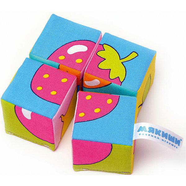 Кубики Собираем картину - ягоды, фрукты, овощи, МякишиФигурки из мультфильмов<br>Характеристики товара:<br><br>• материал: хлопок, поролон<br>• комплектация: 4 шт<br>• размер игрушки: 5 см<br>• можно собрать шесть картинок<br>• развивающая игрушка<br>• упаковка: картон<br>• страна бренда: РФ<br>• страна изготовитель: РФ<br><br>Малыши активно познают мир и тянутся к новой информации. Чтобы сделать процесс изучения окружающего пространства интереснее, ребенку можно подарить развивающие игрушки. В процессе игры информация усваивается намного лучше!<br>Такие кубики помогут занять малыша, играть ими приятно и весело. Одновременно они позволят познакомиться со многими цветами, фактурами, а также из них можно собрать шесть картинок. Такие игрушки развивают тактильные ощущения, моторику, цветовосприятие, логику, воображение, учат фокусировать внимание. Каждое изделие абсолютно безопасно – оно создано из качественной ткани с мягким наполнителем. Игрушки производятся из качественных и проверенных материалов, которые безопасны для детей.<br><br>Кубики Собери картинку - ягоды, фрукты, овощи от бренда Мякиши можно купить в нашем интернет-магазине.<br>Ширина мм: 100; Глубина мм: 50; Высота мм: 100; Вес г: 40; Возраст от месяцев: 12; Возраст до месяцев: 36; Пол: Унисекс; Возраст: Детский; SKU: 5183227;