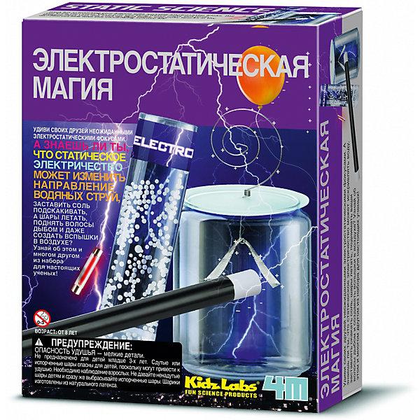 4M Электростатическая магияХимия и физика<br>Характеристики товара:<br><br>• размер упаковки: 6 x 22 x 17 см<br>• вес: 200 г<br>• комплектация: 2 воздушных шарика, 1 крышка от бутылки, пластиковая палочка, наклейки, нить, крышка от электроскопа, 1 скрученный провод, 1 пластиковая труба, 1 неоновая лампа, кусочки пенопласта и подробная инструкция<br>• возраст: от семи лет<br>• упаковка: коробка<br>• страна изготовитель: Китай<br><br>Такой набор станет отличным подарком ребенку - ведь с помощью него можно проводить интересные опыты! В набор входят различные предметы, с помощью которыхпрямо дома можно творить чудеса. Это отличный способ изучать физику!<br>Проведение опытов помогает детям развивать важные навыки и способности, оно активизирует мышление, формирует усидчивость, логику, мелкую моторику и воображение. Изделие производится из качественных и проверенных материалов, которые безопасны для детей.<br><br>Набор 4M Электростатическая магия от бренда 4М можно купить в нашем интернет-магазине.<br>Ширина мм: 220; Глубина мм: 170; Высота мм: 60; Вес г: 200; Возраст от месяцев: 96; Возраст до месяцев: 168; Пол: Унисекс; Возраст: Детский; SKU: 5183351;