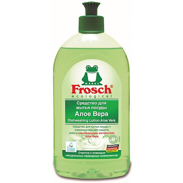 Средство для мытья посуды Алоэ Вера, 0,5л, FroschДетская бытовая химия<br>Характеристики товара:<br><br>• объем: 500 мл<br>• упаковка: пластик<br>• страна бренда: Германия<br>• страна изготовитель: Германия<br><br>К средствам для мытья посуду предъявляются повышенные требования, так как вещества могут содержать опасные для здоровья компоненты. Но только не продукция компании Frosch. Средство эффективно удаляет жир и загрязнения с посуды, придает аромат алоэ вера. <br><br>Химический состав безопасен при использовании, а так же полностью смывается водой. Материалы, использованные при изготовлении товара, сертифицированы и отвечают всем международным требованиям по качеству. <br><br>Средство для мытья посуды Алоэ Вера 0,5 л, от немецкого производителя Frosch (Фрош) можно приобрести в нашем интернет-магазине.<br>Ширина мм: 85; Глубина мм: 52; Высота мм: 200; Вес г: 562; Возраст от месяцев: 216; Возраст до месяцев: 1188; Пол: Унисекс; Возраст: Детский; SKU: 5185732;