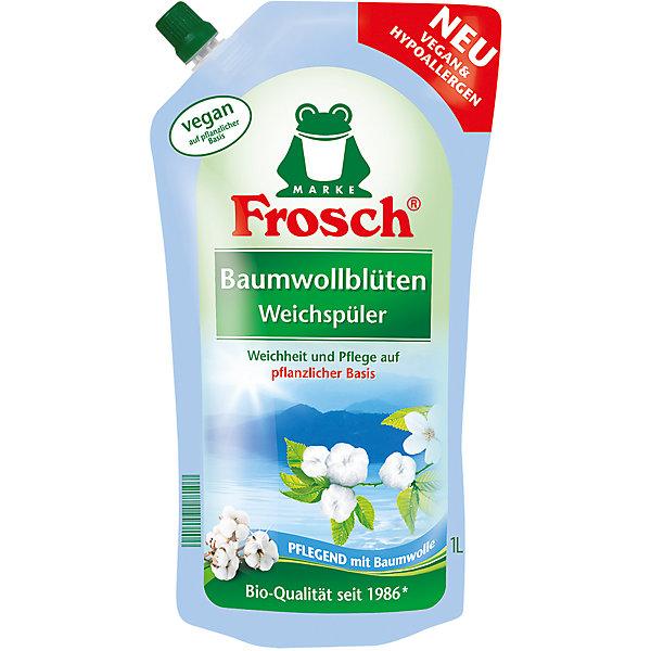 Концентрированный ополаскиватель для белья (Цветы Хлопка), 1 л, FroschБытовая химия<br>Характеристики товара:<br><br>• объем: 1 л<br>• упаковка: пластик<br>• страна бренда: Германия<br>• страна изготовитель: Германия<br><br>После каждой стрики для сохранения первоначальных свойств ткани необходимо добавлять специальные средства, например, ополаскиватели для белья, которые являются отличными помощниками при стирке. Преимущество средства – не только приятный аромат, но и смягчение, а так же уход за тканью. <br><br>С ополаскивателем вещи будут радовать своей презентабельностью долгое время. Материалы, использованные при изготовлении товара, сертифицированы и отвечают всем международным требованиям по качеству. <br><br>Концентрированный ополаскиватель для белья (Цветы Хлопка), 1 л, от производителя Frosch (Фрош) можно приобрести в нашем интернет-магазине.<br><br>Ширина мм: 140<br>Глубина мм: 85<br>Высота мм: 280<br>Вес г: 1050<br>Возраст от месяцев: 216<br>Возраст до месяцев: 1188<br>Пол: Унисекс<br>Возраст: Детский<br>SKU: 5185752