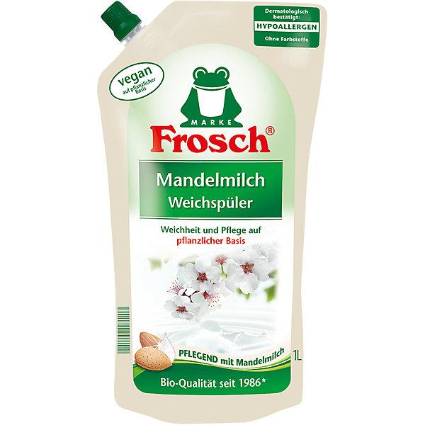 Концентрированный ополаскиватель для белья (Миндальное молочко), 1 л, FroschБытовая химия<br>Характеристики товара:<br><br>• объем: 1 л<br>• упаковка: пластик<br>• страна бренда: Германия<br>• страна изготовитель: Германия<br><br>Ополаскиватели для белья – отличный помощник при стирке. Преимущество средства – не только приятный аромат, но и смягчение, а так же уход за тканью. При использовании в каждой стирке специального ополаскивателя вещи дольше сохранят свой первоначальный вид и будут радовать своей презентабельностью. <br><br>Материалы, использованные при изготовлении товара, сертифицированы и отвечают всем международным требованиям по качеству. <br><br>Концентрированный ополаскиватель для белья (Миндальное молочко), 1 л, от производителя Frosch (Фрош) можно приобрести в нашем интернет-магазине.<br><br>Ширина мм: 140<br>Глубина мм: 85<br>Высота мм: 280<br>Вес г: 1050<br>Возраст от месяцев: 216<br>Возраст до месяцев: 1188<br>Пол: Унисекс<br>Возраст: Детский<br>SKU: 5185753