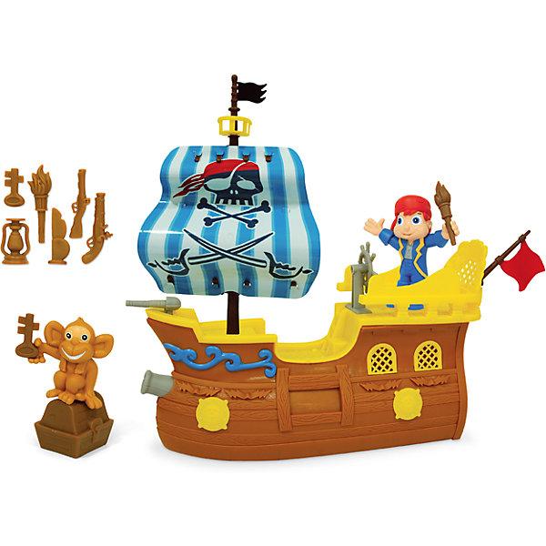Игровой набор Пиратский корабль - Остров приключений, BoleyДругие наборы<br>Игровой набор Пиратский корабль, Boley (Болей).<br><br>Характеристики:<br><br>• Вес: 725 г.<br>• Размер упаковки: 32,5 х 7,5 х 27,5 см.<br>• В комплекте: танк, фигурка солдата, аксессуары, оружие.<br><br>Игровой набор «Пиратский корабль» от бренда Boley (Болей) - станет отличным подарком для каждого мальчика к любому празднику! С ним ребенок сможет затеять увлекательную сюжетно-ролевую игру ведь пиратские игры одни самых любимых у мальчишек.. В комплекте: корабль, фигурка пирата, обезьянка. Корабль выполнен в ярких цветах. Корабль выглядит очень реалистично и дополнен подвижными элементами: штурвалом и парусом. Все предметы выполнены из высококачественных, экологически чистых материалов, совершенно безопасных для ребенка. Игрушка выглядит ярко и очень эффектно!  <br><br>Игровой набор Пиратский корабль, Boley (Болей), можно купить в нашем интернет- магазине.<br>Ширина мм: 340; Глубина мм: 290; Высота мм: 120; Вес г: 708; Возраст от месяцев: 48; Возраст до месяцев: 2147483647; Пол: Мужской; Возраст: Детский; SKU: 5185760;