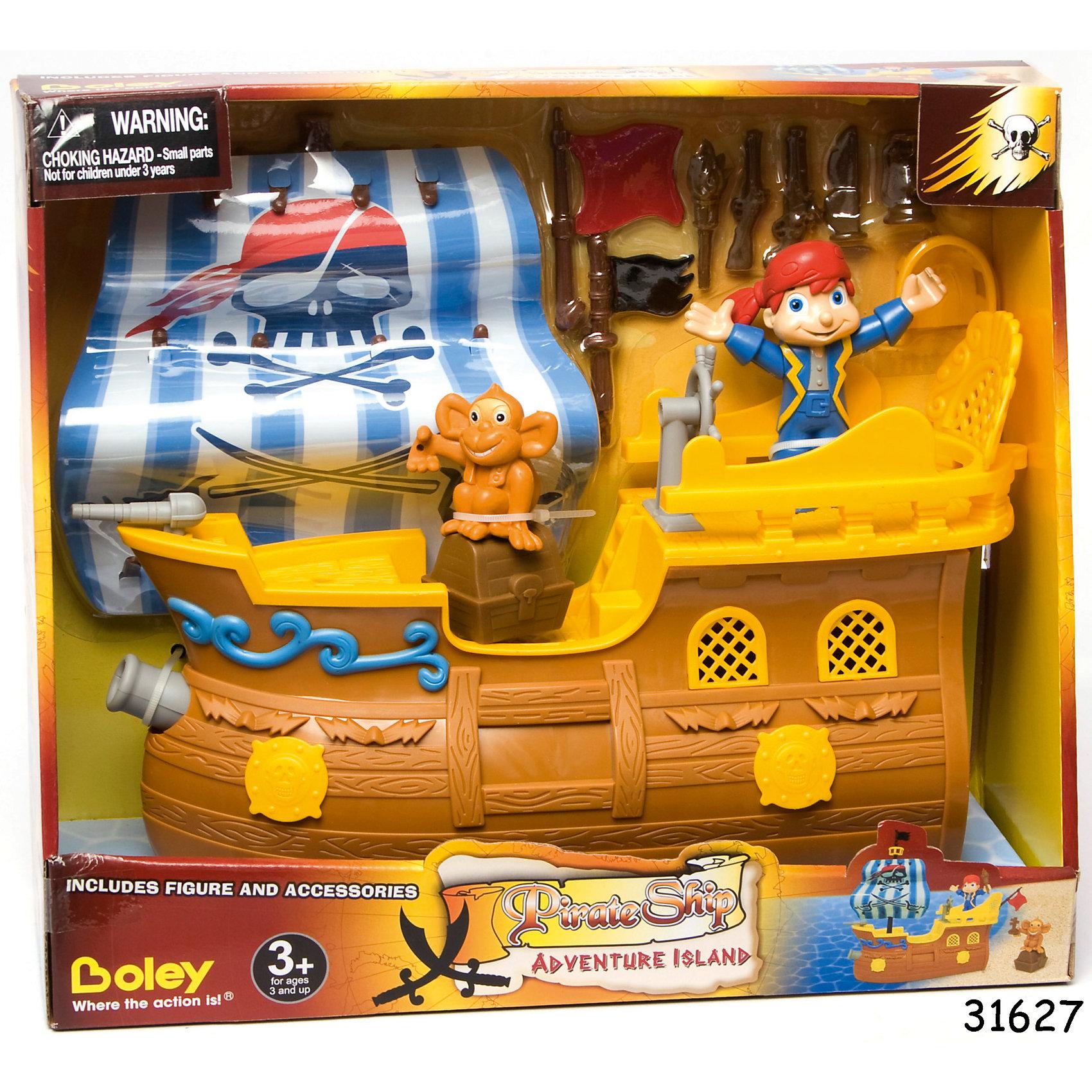 """Игровой набор """"Пиратский корабль"""" - Остров приключений, Boley от myToys"""