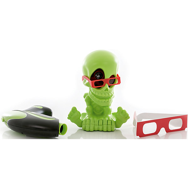 Тир проекционный 3D Джонни-Черепок  с 2-мя бластерами, Johnny the SkullИгрушечное оружие<br>Тир проекционный 3D Джонни-Черепок  с 2-мя бластерами, Johnny the Skull<br><br>Характеристики:<br><br>• Вес: 1080 г.<br>• Размер упаковки: 44х13х25 см.<br>• В комплекте: проектор Джонни Черепок в 3D-очках, 2 бластера, 2 3D-очков для игроков, инструкция.<br><br>Проекционный  тир – это интерактивная игрушка предназначенная для игры в закрытых помещениях. Он совершенно безопасен для игроков, а также для  обстановки квартиры, так как стрелять нужно не пульками, стрелами или другими снарядами, а невидимым лучом! С интерактивными тиром Johnny The Skull вам не потребуется много свободного пространства, достаточно будет погасить свет в комнате и можно начинать увлекательную охоту на привидения и летучих мышей! Комплект набора состоит из проектора в виде симпатичного скелетика по имени Джонни, отбрасывающего световые проекции на стены и потолок комнаты, и двух электронных бластеров, которые будут подсчитывать количество метких выстрелов. Порадуйте своего мальчика, подарив ему такой интерактивный тир!<br><br>Тир проекционный 3D Джонни-Черепок  с 2-мя бластерами, Johnny the Skull, можно купить в нашем интернет- магазине.<br><br>Ширина мм: 400<br>Глубина мм: 260<br>Высота мм: 130<br>Вес г: 1105<br>Возраст от месяцев: 72<br>Возраст до месяцев: 2147483647<br>Пол: Мужской<br>Возраст: Детский<br>SKU: 5185762