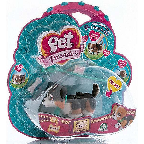 Фигурка собачки в комплекте с косточкой и поводком, Pet Club ParadeИгровые фигурки животных<br>Фигурка собачки в комплекте с косточкой и поводком, ассортимент, Pet Club Parade(Пет Клаб Парейд).<br><br>Характеристики:<br><br>• Размер упаковки: 22х6х21 см.<br>• Вес:160г.<br>• В комплекте: фигурка собачки, косточки, поводок, наклейка на ошейник, буклет.<br><br>Щенки Pet Club Parade (Пет Клаб Парад) забавно двигают лапками при ходьбе. При желании, можно присоединить специальный поводок розового или голубого цвета к ошейнику. На спинке расположен джойстик, с помощью которого можно управлять головой, хвостиком и глазами.<br>Внутри фигурки  встроен магнит, благодаря чему, щенок может подбирать и следовать за своей косточкой. Игрушка работает без батареек!<br>На ошейнике собачки есть бирка в виде косточки, на которую можно приклеить стикер с именем своего любимца. Такая собачка, безусловно, станет желанным подарком для маленьких любителей домашних животных!<br><br>Фигурку собачки в комплекте с косточкой и поводком, ассортимент, Pet Club Parade(Пет Клаб Парейд), можно купить в нашем интернет – магазине.<br><br>Ширина мм: 220<br>Глубина мм: 210<br>Высота мм: 60<br>Вес г: 153<br>Возраст от месяцев: 36<br>Возраст до месяцев: 2147483647<br>Пол: Женский<br>Возраст: Детский<br>SKU: 5185767