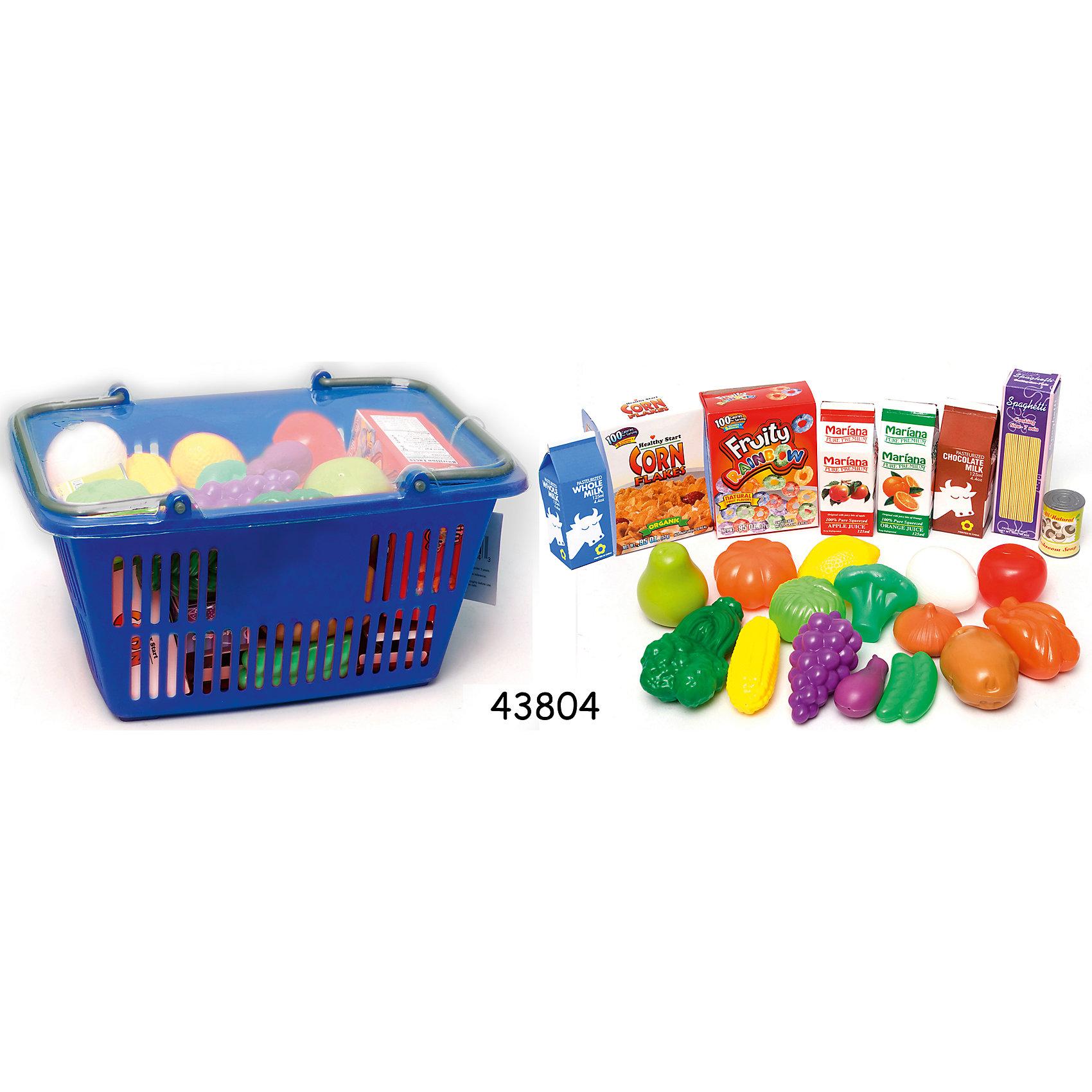 Корзинка с продуктами, BoleyКорзинка с продуктами, Boley (Болей).<br><br>Характеристики:<br><br>• Вес: 370 г.<br>• Размер упаковки: 25 х 13,7 х 17,5 см.<br>• Цвет: разноцветный.<br>• Материал: пластик.<br><br>Замечательный набор Корзинка с продуктами от бренда Boley (Болей) - станет отличным дополнением детской кухни! С ним девочка сможет затеять увлекательные сюжетно-ролевые игры и почувствовать себя настоящей хозяюшкой, продавцом. В комплект входят 23 предмета, среди которых вы найдете: молоко, кукурузные хлопья, сок, виноград, груша, кукуруза, брокколи, зеленый горошек, лук, томат, картофель и другие продукты. Все предметы выполнены из высококачественных, экологически чистых материалов, совершенно безопасных для ребенка. Порадуйте  свою маленькую хозяйку, подарив ей такой набор !<br><br>Корзинку с продуктами, Boley (Болей), можно купить в нашем интернет- магазине.<br><br>Ширина мм: 250<br>Глубина мм: 130<br>Высота мм: 180<br>Вес г: 365<br>Возраст от месяцев: 36<br>Возраст до месяцев: 2147483647<br>Пол: Женский<br>Возраст: Детский<br>SKU: 5185772