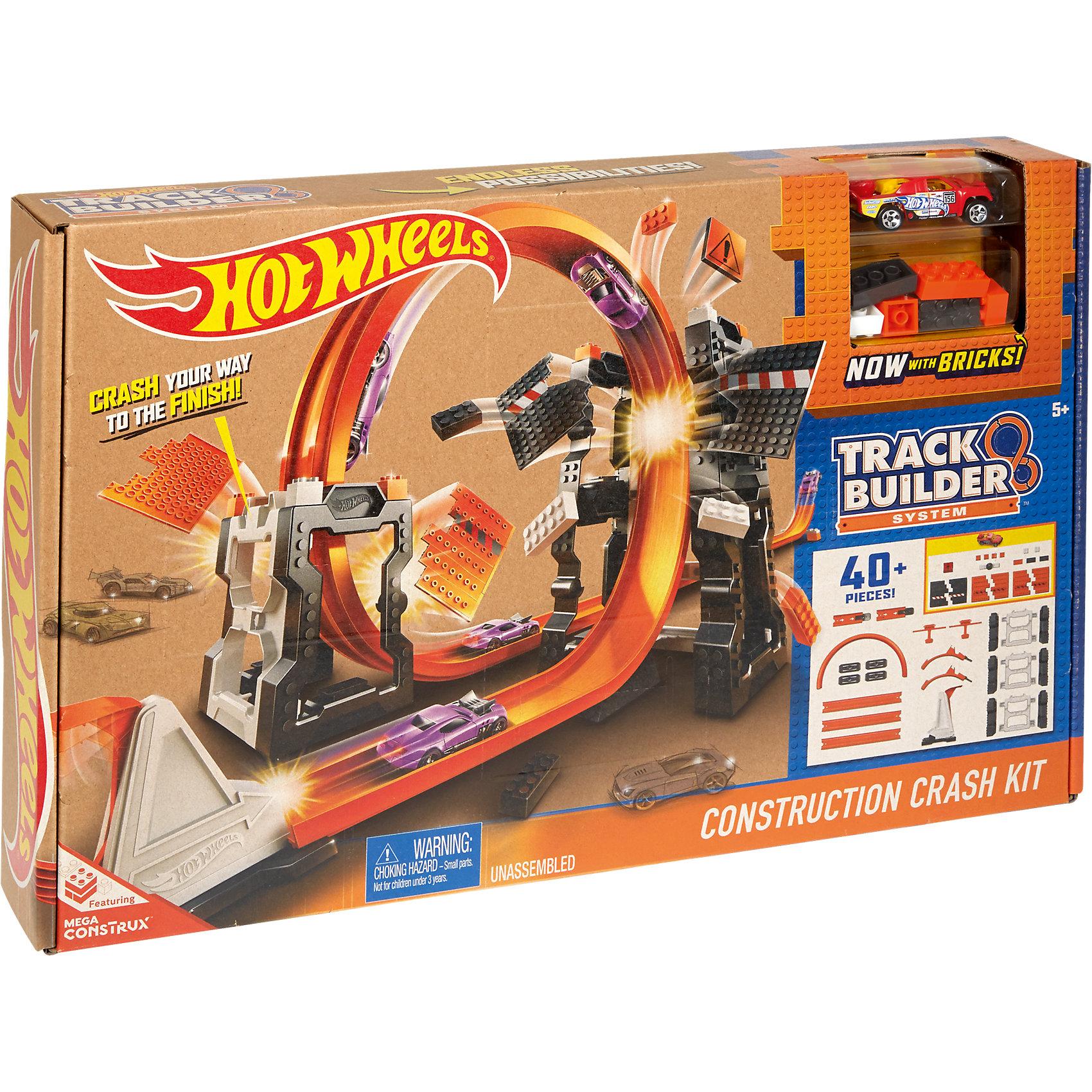 Конструктор трасс: взрывной набор , Hot WheelsИгровые наборы<br>Конструктор трасс: взрывной набор , Hot Wheels (Хот Вилс)<br><br>Характеристики: <br><br>• увлекательный набор с взрывными конструкциями <br>• более 40 деталей В комплекте <br>• подходит к другим частям трассы Хот Вилс <br>• машинка в комплекте <br>• материал: пластик, металл <br><br>Взрывной набор впечатлит каждого поклонника Hot Wheels. В набор входят более 40 деталей, из которых можно построить крутую трассу с навесными конструкциями. Проскакивайте под двумя панелями и врезайтесь в ограничитель - игра действительно в стиле настоящих гонщиков! Вы можете использовать машинку, входящую в комплект, или свою, подходящую по ширине.<br><br>Конструктор трасс: взрывной набор , Hot Wheels (Хот Вилс) можно купить в нашем интернет-магазине.<br><br>Ширина мм: 461<br>Глубина мм: 309<br>Высота мм: 78<br>Вес г: 1199<br>Возраст от месяцев: 48<br>Возраст до месяцев: 96<br>Пол: Мужской<br>Возраст: Детский<br>SKU: 5188166