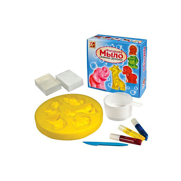 Набор для  изготовление мыла АфрикаНаборы для создания мыла<br>Характеристики:<br><br>• Предназначение: для занятий мыловарением<br>• Пол: универсальный<br>• Тема: животные<br>• Комплектация: мыльная основа, пищевые красители, форма для мыла, пластиковый стакан, инструкция, стек<br>• Материал: мыльная основа, пищевые красители, пластик, картон<br>• Размеры упаковки (Д*Ш*В): 18*18*8 см<br>• Вес упаковки: 390 г <br>• Упаковка: картонная коробка<br><br>Набор для изготовления мыла Африка от отечественной компании Луч, специализирующейся на выпуске канцелярских товаров и товаров для занятий творчеством. Набор состоит из материалов и приспособлений, необходимых для создания коллекции мыла в форме животных. Все материалы, использованные в комплекте безопасны и нетоксичны, они не вызывают аллергических реакций. Набор для изготовления мыла может стать прекрасным вариантов в качестве подарка к праздникам не только для детей, но и для взрослых, которые увлекаются занятиями творчеством. С помощью набора можно создать оригинальные подарки для родных и близких. Занятия творчеством развивают мелкую моторику рук, способствуют формированию художественно-эстетического вкуса и дарят хорошее настроение не только ребенку, но и окружающим!<br><br>Набор для изготовления мыла Африка можно купить в нашем интернет-магазине.<br><br>Ширина мм: 180<br>Глубина мм: 70<br>Высота мм: 180<br>Вес г: 390<br>Возраст от месяцев: 36<br>Возраст до месяцев: 180<br>Пол: Унисекс<br>Возраст: Детский<br>SKU: 5188802