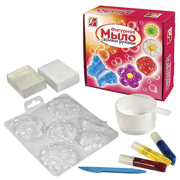 Набор для  изготовление мыла ЦветыНаборы для создания мыла<br>Набор для изготовления мыла Цветы(мыльная основа 200 гр., красители пищевые 3*5 мл, пластиковый стакан, формы для мыла (5 образов), стек)<br><br>Ширина мм: 180<br>Глубина мм: 70<br>Высота мм: 180<br>Вес г: 367<br>Возраст от месяцев: 36<br>Возраст до месяцев: 180<br>Пол: Унисекс<br>Возраст: Детский<br>SKU: 5188805