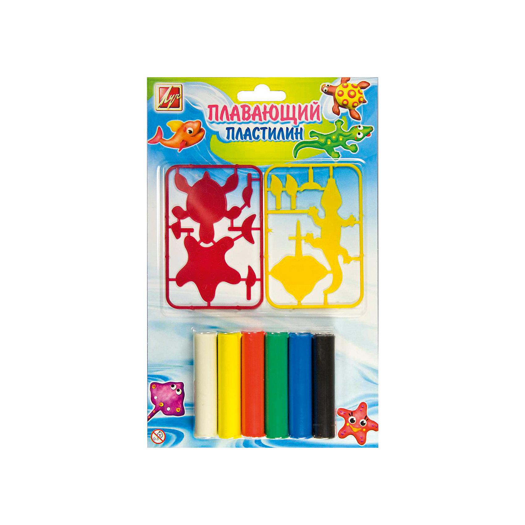 ЛУЧ Набор для творчества плавающий пластилин, 6 цветов луч набор для изготовление мыла машины
