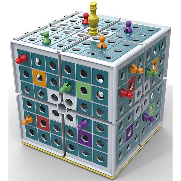 Настольная Игра Царь Куба, PlayLabСтратегические настольные игры<br>Настольная Игра Царь Куба, PlayLab<br><br>Характеристики:<br><br>- в набор входит: коврик для игры, царь-фишка, 16 фишек 4х цветов, кубик, большой куб, правила игры.<br>- материал: пластик<br>- количество игроков: 2-4 игрока<br>- время игры: 10-15 мин<br>- размер куба: 19 * 19 * 19 см. <br>- вес: 745 гр.<br><br>Время двухмерных игр и ходилок давно прошло! Немецкая компания PlayLab (ПлейЛаб) представляет игру Царь Куба, где ходить можно в трехгранном пространстве! Царь Куба разбавит привычные игры и головоломки детей. Задача игрока – кидать кубик и передвигаться по полю, загнав фишки остальных игроков в центр куба. Куб можно и перевернуть, чтобы поместить сразу всех в центр куба. Фишки и детали игры можно хранить в большом кубе. Яркая и интересная игрушка поможет развить логическое мышление, внимание, моторику и терпение. Царь Куба упакован в фирменную стильную коробку. <br>Настольную Игру Царь Куба, PlayLab (ПлейЛаб) можно купить в нашем интернет-магазине.<br>Ширина мм: 200; Глубина мм: 200; Высота мм: 200; Вес г: 800; Возраст от месяцев: 48; Возраст до месяцев: 2147483647; Пол: Унисекс; Возраст: Детский; SKU: 5191421;
