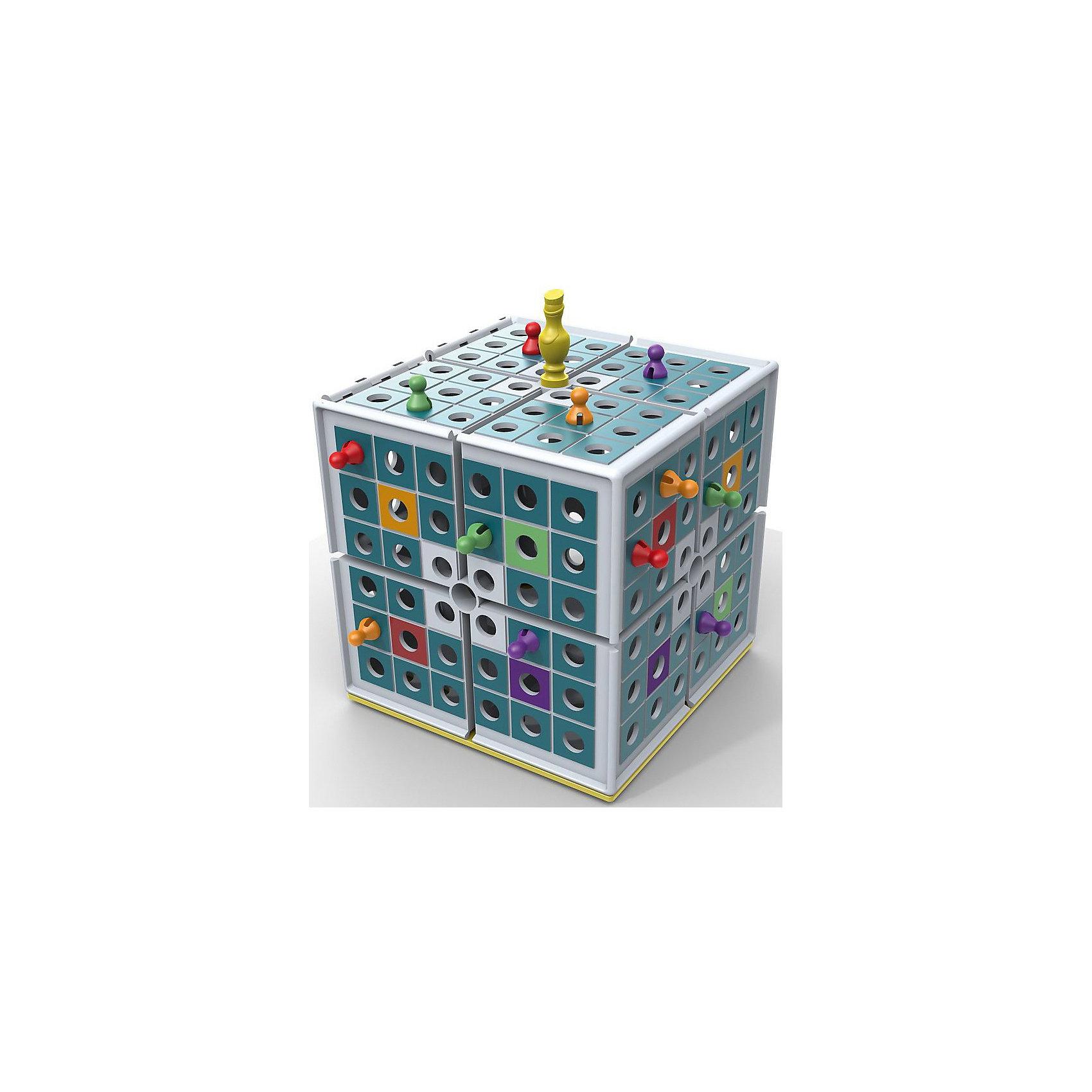 Настольная Игра Царь Куба, PlayLabНастольные игры<br>Настольная Игра Царь Куба, PlayLab<br><br>Характеристики:<br><br>- в набор входит: коврик для игры, царь-фишка, 16 фишек 4х цветов, кубик, большой куб, правила игры.<br>- материал: пластик<br>- количество игроков: 2-4 игрока<br>- время игры: 10-15 мин<br>- размер куба: 19 * 19 * 19 см. <br>- вес: 745 гр.<br><br>Время двухмерных игр и ходилок давно прошло! Немецкая компания PlayLab (ПлейЛаб) представляет игру Царь Куба, где ходить можно в трехгранном пространстве! Царь Куба разбавит привычные игры и головоломки детей. Задача игрока – кидать кубик и передвигаться по полю, загнав фишки остальных игроков в центр куба. Куб можно и перевернуть, чтобы поместить сразу всех в центр куба. Фишки и детали игры можно хранить в большом кубе. Яркая и интересная игрушка поможет развить логическое мышление, внимание, моторику и терпение. Царь Куба упакован в фирменную стильную коробку. <br>Настольную Игру Царь Куба, PlayLab (ПлейЛаб) можно купить в нашем интернет-магазине.<br><br>Ширина мм: 200<br>Глубина мм: 200<br>Высота мм: 200<br>Вес г: 800<br>Возраст от месяцев: 48<br>Возраст до месяцев: 2147483647<br>Пол: Унисекс<br>Возраст: Детский<br>SKU: 5191421