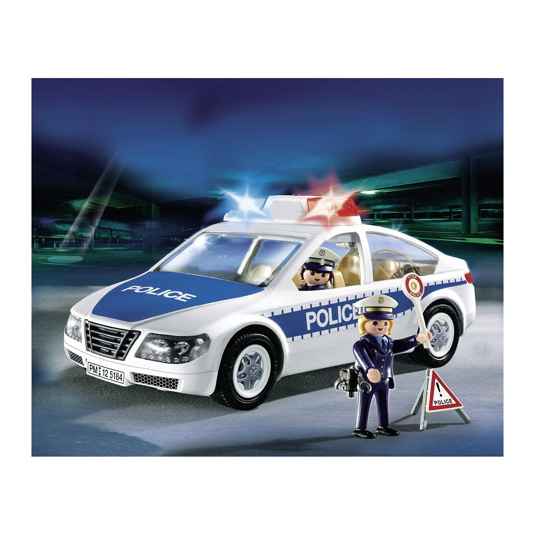 Полиция: Полицейская машина, PLAYMOBILПолиция: Полицейская машина, PLAYMOBIL (Плеймобиль).<br><br>Характеристики:<br><br>• В комплекте: полицейская машина, 2 фигурки полицейских.<br>• Размер упаковки: 47х 6.5 х 37.5 см.<br>• Цвет: белый, темно - синий.<br>• Вес: 580 г.<br>• Материал: пластик.<br><br>Отличный полицейский автомобиль для вашего мальчика от бренда PLAYMOBIL (Плеймобиль). Эта полицейская машина  - конструктор, который ребенок должен сам собрать.  Он легко собирается по наглядным иллюстрациям. Всего 35 деталей.  В этой машинке предусмотрены проблесковые маячки и сирена. В комплекте так же фигурки полицейских, оружие, наручники и другие аксессуары. Высота человечка имеет 7,5 см.  У него двигаются ручки, голова, может наклоняться. Подарите своему юному стражу порядка такой набор!<br><br>Полиция: Полицейскую машину, PLAYMOBIL (Плеймобиль), можно купить в нашем интернет- магазине.<br><br>Ширина мм: 300<br>Глубина мм: 200<br>Высота мм: 100<br>Вес г: 579<br>Возраст от месяцев: 48<br>Возраст до месяцев: 2147483647<br>Пол: Мужской<br>Возраст: Детский<br>SKU: 5195407