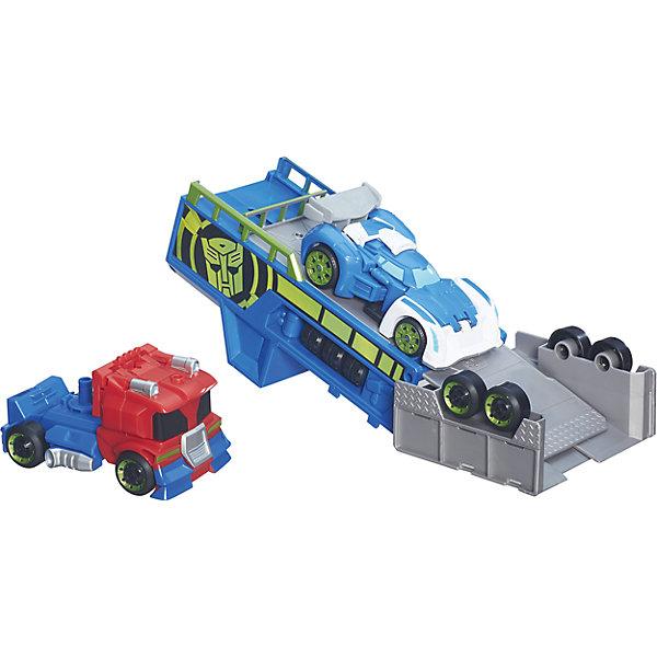 Трансформер Спасатели: Гоночный комплект, HasbroТрансформеры-игрушки<br>Характеристики товара: <br><br>• возраст: от 3 лет;<br>• материал: пластик;<br>• в комплекте: робот, машинка, трамплин;<br>• высота робота: 15 см;<br>• размер упаковки: 38,1х30,5х8,9 см;<br>• вес упаковки: 710 гр.;<br>• страна производитель: Китай.<br><br>Игровой набор «Трансформеры спасатели: Гоночный комплект» Hasbro включает в себя робота, машинку и трамплин для ее запуска. Трамплин представляет собой установку на колесах. Наклонив его, получается спуск, по которому можно запустить машинку и придать ей скорость. Робот легко превращается в грузовик, при помощи которого перевозится установка-трамплин. Игрушка выполнена из качественного пластика.<br><br>Игровой набор «Трансформеры спасатели: Гоночный комплект» Hasbro можно приобрести в нашем интернет-магазине.<br><br>Ширина мм: 382<br>Глубина мм: 276<br>Высота мм: 93<br>Вес г: 697<br>Возраст от месяцев: 36<br>Возраст до месяцев: 96<br>Пол: Мужской<br>Возраст: Детский<br>SKU: 5195411