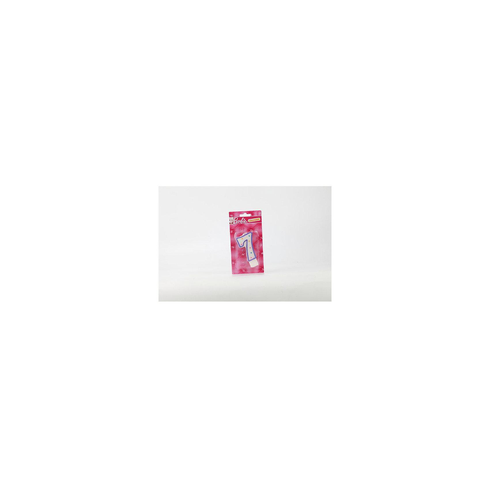 Свеча-цифра 7, BarbieХарактеристики товара:<br><br>• размер упаковки: 2х15х8 см<br>• вес: 30 г<br>• материал: парафин<br>• упаковка: блистер<br>• страна бренда: РФ<br>• страна изготовитель: РФ<br><br>Такой предмет станет отличным сюрпризом для детей на праздник! Свеча отличается тем, что на её упаковке изображены любимые герои многих детей. Предмет поможет создать праздничное настроение, особенно - в компании детей. <br>Свеча выпущена в удобном формате, размер изделия - универсальный. Свеча производится из качественных и проверенных материалов, которые безопасны для детей.<br><br>Свечу-цифру 7, Barbie, от российского бренда Веселый праздник можно купить в нашем интернет-магазине.<br><br>Ширина мм: 20<br>Глубина мм: 150<br>Высота мм: 80<br>Вес г: 30<br>Возраст от месяцев: 12<br>Возраст до месяцев: 72<br>Пол: Женский<br>Возраст: Детский<br>SKU: 5196954