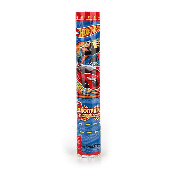 Пневмохлопушка Hot wheels, 30 смДетские хлопушки и бумфетти<br>Характеристики товара:<br><br>• материал: бумага, пластик<br>• размер упаковки: 30х5х5 см<br>• вес: 150 г<br>• комплектация:1 хлопушка<br>• упаковка: тубус<br>• страна бренда: РФ<br>• страна изготовитель: РФ<br><br>Такая хлопушка станет отличным сюрпризом для детей на праздник! Она отличается тем, что на ней изображены машинки Hot wheels, любимые многими современными детьми. Хлопушка поможет создать праздничное настроение, особенно - в компании детей. Она гораздо безопаснее, чем фейерверки и бенгальские огни. Хлопушка высотой 30 сантиметров выглядит внушительно и нарядно!<br>Хлопушка выпущена в удобном формате. Изделие производится из качественных и проверенных материалов, которые безопасны для детей.<br><br>Пневмохлопушку Hot wheels, 30 см, от российского бренда Веселый праздник можно купить в нашем интернет-магазине.<br><br>Ширина мм: 50<br>Глубина мм: 50<br>Высота мм: 300<br>Вес г: 150<br>Возраст от месяцев: 36<br>Возраст до месяцев: 72<br>Пол: Мужской<br>Возраст: Детский<br>SKU: 5196961
