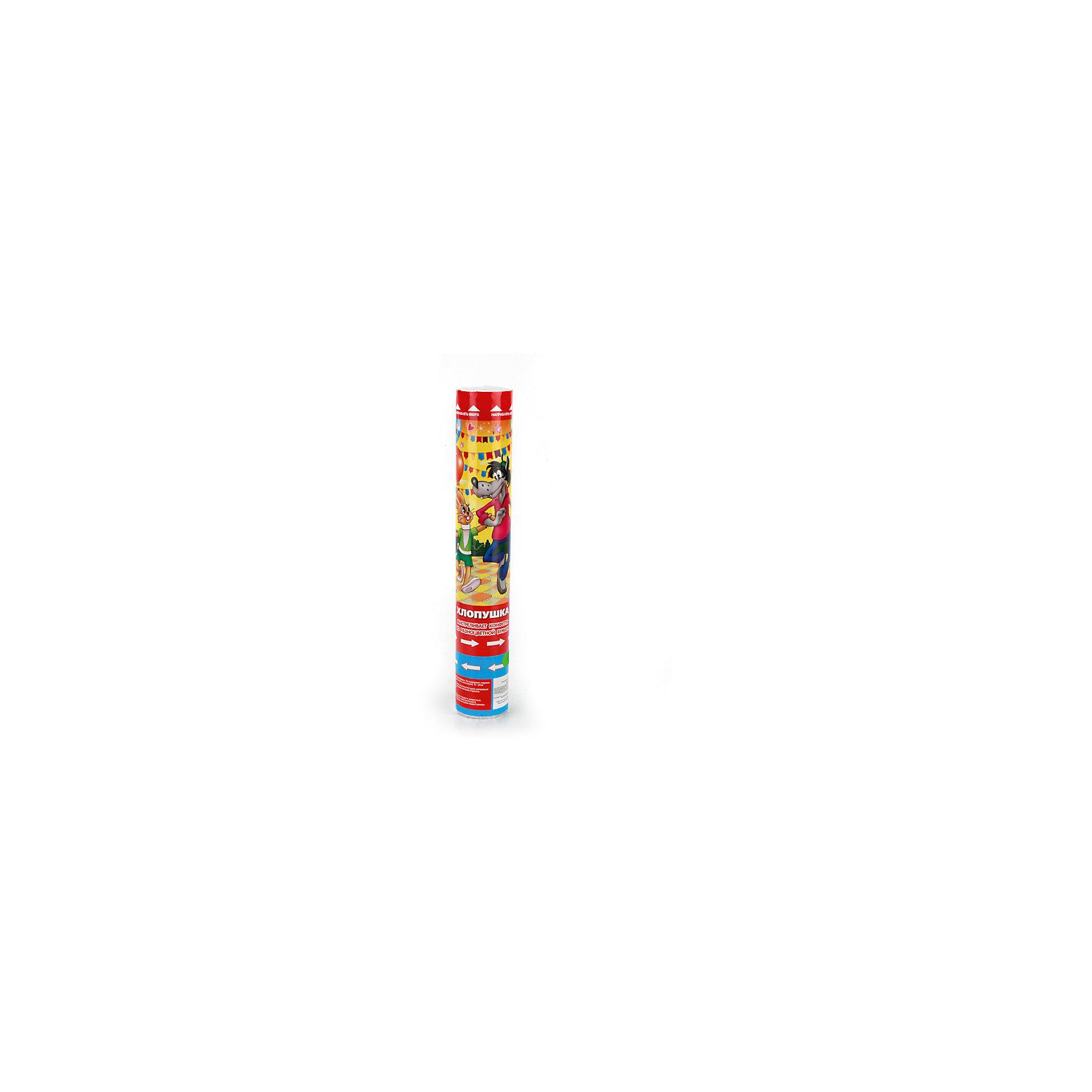 Пневмохлопушка Ну, погоди!, 30 смДетские хлопушки и бумфетти<br>Характеристики товара:<br><br>• материал: бумага, пластик<br>• размер упаковки: 30х5х5 см<br>• вес: 150 г<br>• комплектация:1 хлопушка<br>• упаковка: тубус<br>• страна бренда: РФ<br>• страна изготовитель: РФ<br><br>Такая хлопушка станет отличным сюрпризом для детей на праздник! Она отличается тем, что на ней изображены любимые мультяшные герои многих детей. Хлопушка поможет создать праздничное настроение, особенно - в компании детей. Она гораздо безопаснее, чем фейерверки и бенгальские огни. Хлопушка высотой 30 сантиметров выглядит внушительно и нарядно!<br>Хлопушка выпущена в удобном формате. Изделие производится из качественных и проверенных материалов, которые безопасны для детей.<br><br>Пневмохлопушку Ну, погоди!, 30 см, от российского бренда Веселый праздник можно купить в нашем интернет-магазине.<br><br>Ширина мм: 50<br>Глубина мм: 50<br>Высота мм: 300<br>Вес г: 150<br>Возраст от месяцев: 36<br>Возраст до месяцев: 72<br>Пол: Унисекс<br>Возраст: Детский<br>SKU: 5196964