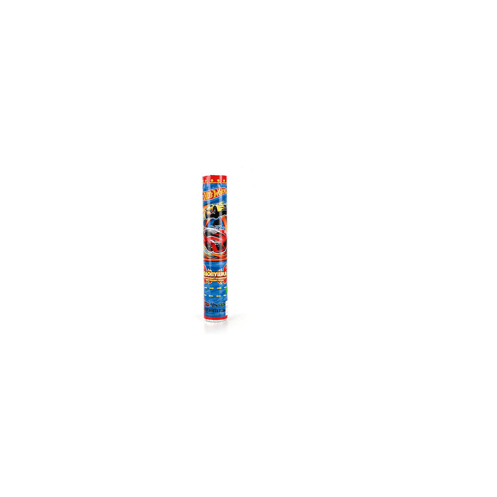 Пневмохлопушка Hot wheels, 30 смHot Wheels<br>Характеристики товара:<br><br>• материал: бумага, пластик<br>• размер упаковки: 30х5х5 см<br>• вес: 150 г<br>• комплектация:1 хлопушка<br>• упаковка: тубус<br>• страна бренда: РФ<br>• страна изготовитель: РФ<br><br>Такая хлопушка станет отличным сюрпризом для детей на праздник! Она отличается тем, что на ней изображены машинки Hot wheels, любимые многими современными детьми. Хлопушка поможет создать праздничное настроение, особенно - в компании детей. Она гораздо безопаснее, чем фейерверки и бенгальские огни. Хлопушка высотой 30 сантиметров выглядит внушительно и нарядно!<br>Хлопушка выпущена в удобном формате. Изделие производится из качественных и проверенных материалов, которые безопасны для детей.<br><br>Пневмохлопушку Hot wheels, 30 см, от российского бренда Веселый праздник можно купить в нашем интернет-магазине.<br><br>Ширина мм: 50<br>Глубина мм: 50<br>Высота мм: 300<br>Вес г: 140<br>Возраст от месяцев: 36<br>Возраст до месяцев: 72<br>Пол: Мужской<br>Возраст: Детский<br>SKU: 5196973