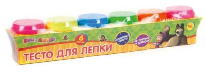 Multiart Тесто для лепки Неон , Маша и медведь