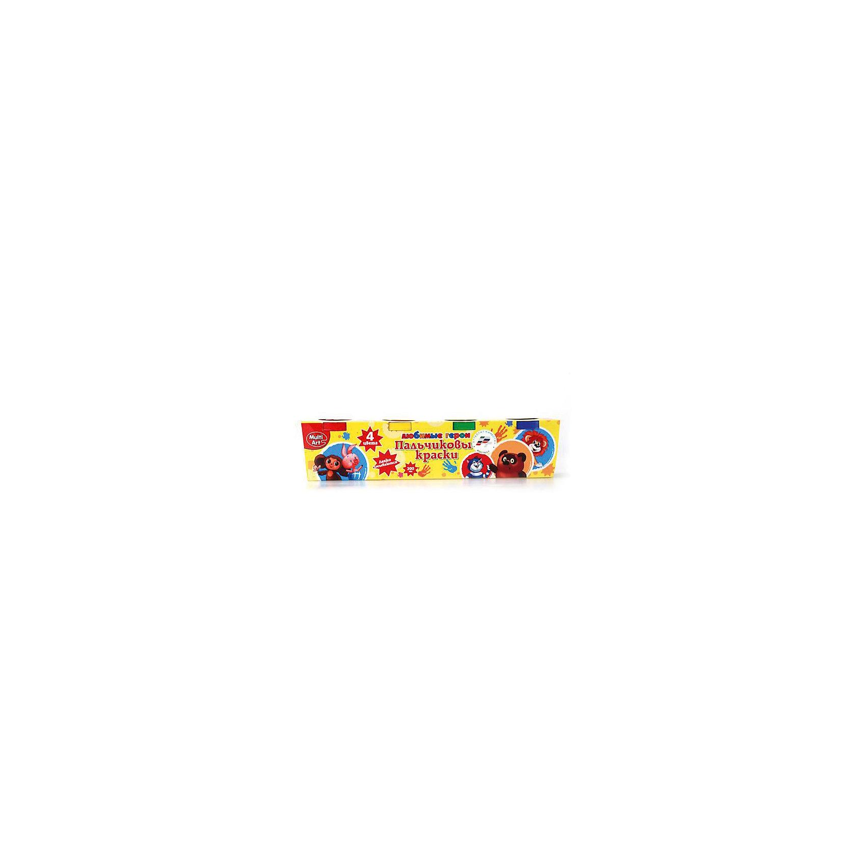 Multiart Пальчиковые краски Cоюзмультфильм пальчиковые краски 4 цвета 50 гр