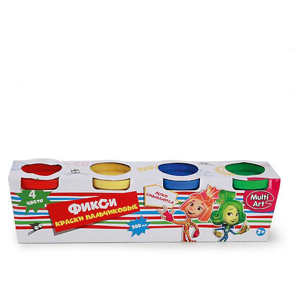 Пальчиковые краски ФиксикиПальчиковые краски<br>Характеристики:<br><br>• Предназначение: для занятий художественным творчеством<br>• Коллекция: Фиксики<br>• Пол: универсальный<br>• Материал: водная основа, натуральные пищевые красители, пластик, картон<br>• Цвет: красный, желтый, зеленый, синий<br>• Комплектация: набор пальчиковых красок из 4-х цветов<br>• Размеры (Д*Ш*В): 5*6*22 см<br>• Вес: 290 г <br>• Упаковка: картонная коробка<br><br>Пальчиковые краски Фиксики от ведущего торгового бренда товаров для творчества Multiart предназначены для занятий художественным творчеством с детьми раннего дошкольного возраста. Выполненные из экологически безопасных и нетоксичных материалов, пальчиковые краски не вызывают аллергии и раздражения на коже. Выполненные на водной основе с добавлением натуральных красителей, краски легко отмываются с любых поверхностей и без труда отстирываются с одежды. Пальчиковые краски имеют яркие оттенки, легко смешиваются между собой, не растекаются, благодаря своей кремообразной консистенции, при необходимости их можно разводить водой. Рисовать красками можно как пальчиками или ладошками, так и кисточками, что сделает творческий процесс еще более увлекательным для вашего малыша. Занятия художественным творчеством с пальчиковыми красками Фиксики позволят научить ребенка распознавать основные цвета и создавать из них различные оттенки, разовьют фантазию и воображение, а также будут способствовать развитию мелкой моторики рук.<br><br>Пальчиковые краски Фиксики можно купить в нашем интернет-магазине.<br><br>Ширина мм: 50<br>Глубина мм: 60<br>Высота мм: 220<br>Вес г: 290<br>Возраст от месяцев: 36<br>Возраст до месяцев: 72<br>Пол: Унисекс<br>Возраст: Детский<br>SKU: 5196978