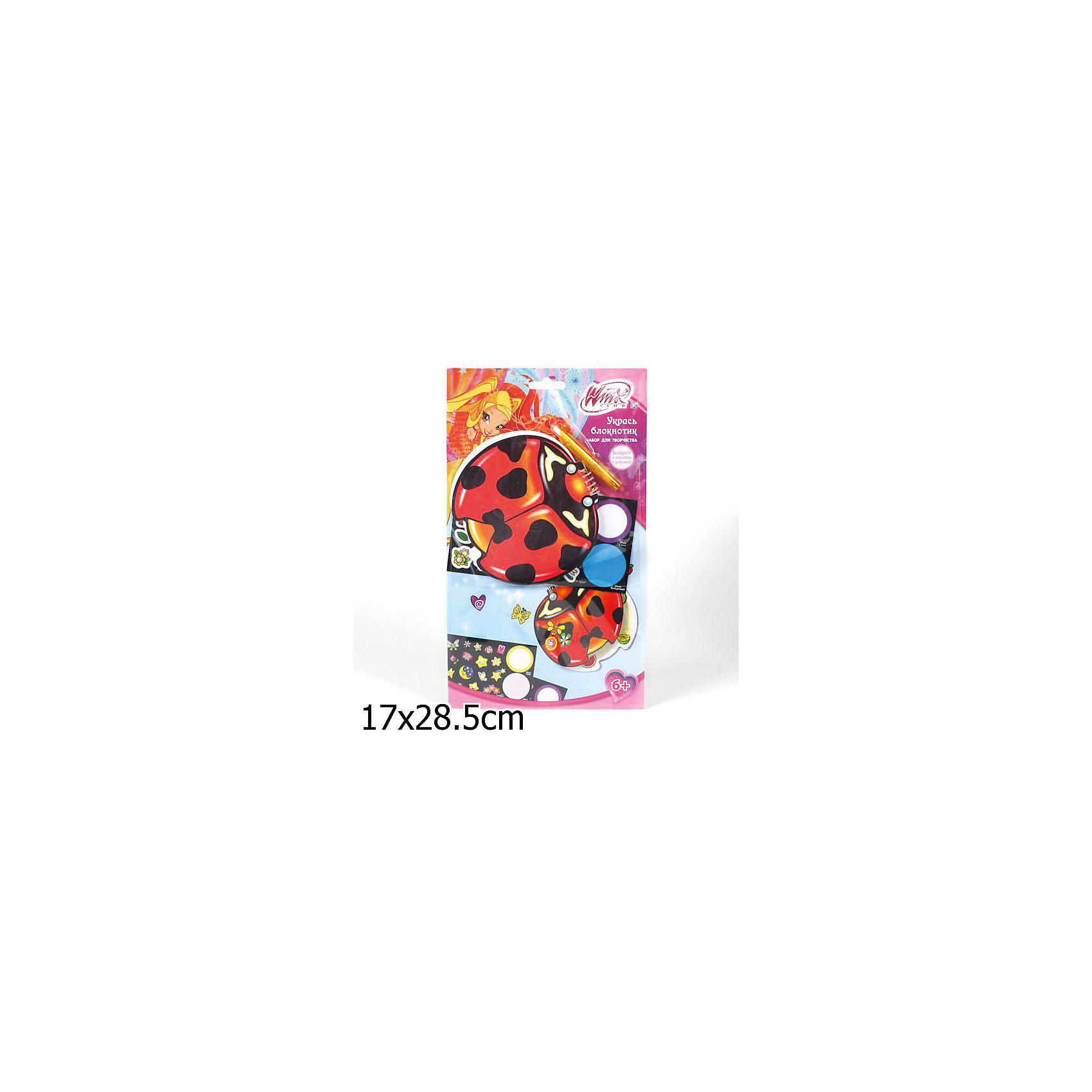 Multiart Набор для творчества Укрась блокнотик, Winx Club наборы для творчества multiart winx модные сумочки с наклейками