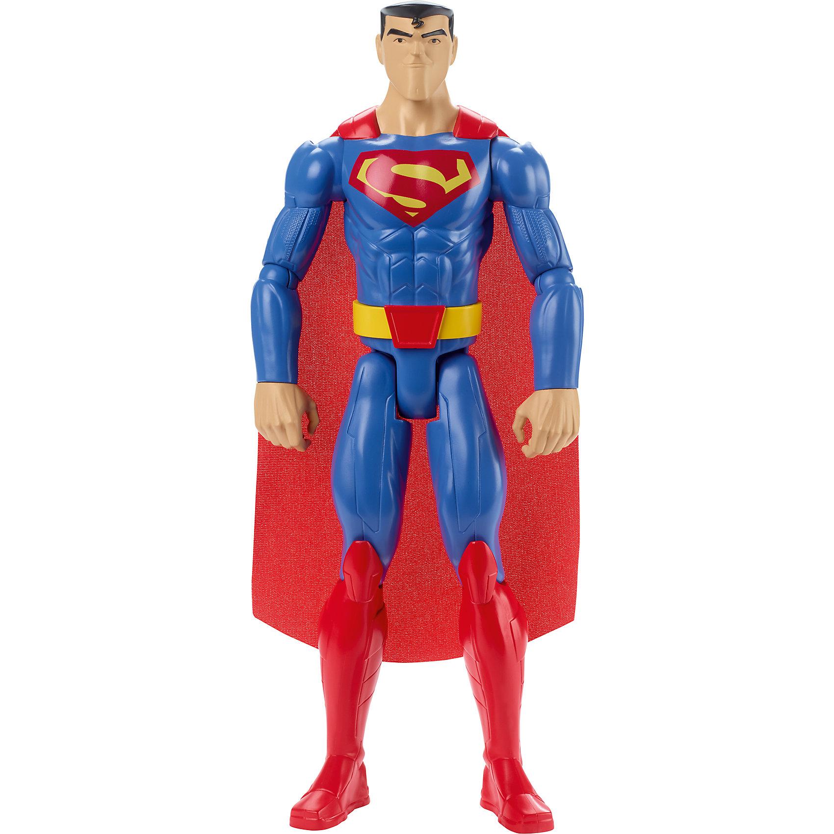 Базовая фигурка Супермен, БэтменКоллекционные и игровые фигурки<br>Характеристики товара:<br><br>• комплектация: 1 фигурка<br>• материал: пластик<br>• серия: Лига Справедливости<br>• ноги гнутся<br>• высота фигурки: 30 см<br>• возраст: от трех лет<br>• упаковка: коробка<br>• размер упаковки: 31х11х5 см<br>• вес: 0,3 кг<br>• страна бренда: США<br><br>Отличный подарок для любителей супергероев! Такая фигурка позволит придумать множество игр со своими любимыми персонажами. Она отлично детализирована. Высота - 30 сантиметров, поэтому и выглядит супергерой внушительно.<br><br>Игры с подобными фигурками - это не только весело, они помогают детям развить воображение, творческое и пространственное мышление, мелкую моторику . Игрушки от бренда Mattel отличаются стабильно высоким качеством и уже давно радуют детей по всему миру! <br><br>Базовую фигурку Супермен от компании Mattel можно купить в нашем интернет-магазине.<br><br>Ширина мм: 311<br>Глубина мм: 106<br>Высота мм: 58<br>Вес г: 239<br>Возраст от месяцев: 36<br>Возраст до месяцев: 96<br>Пол: Мужской<br>Возраст: Детский<br>SKU: 5197060