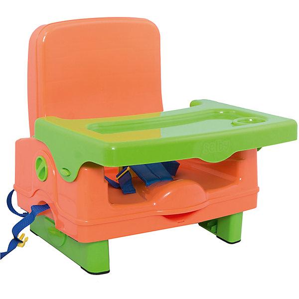 Стульчик для кормления BH-410 Selby, оранжевый/зеленыйСтульчики для кормления<br>Характеристики стульчика для кормления BH-410 Selby:<br><br>• стульчик устанавливается на обычный стул со спинкой;<br>• способ крепления: с помощью специальных ремней, которые оснащены карабинами;<br>• имеется столик, который можно снять и вымыть;<br>• столешница оснащена бортиками и углублением для поильника-чашки-бутылочки;<br>• 3-х точечные ремни безопасности регулируются по длине, надежно защищают кроху во время пребывания в стульчике;<br>• стульчик складывается очень компактно, в сложенном виде представляет собой чемоданчик с ручкой для переноса;<br>• на спинке стульчика имеется ящик для мелких аксессуаров;<br>• откидывается спинка и ножки;<br>• материал: пластик.<br><br>Размеры: <br><br>• размер стульчика: 42,5х38х39,5 см;<br>• размер чемоданчика (стульчик в сложенном виде): 40х20х31 см;<br>• размер столешницы: 38,5х27,5 см;<br>• вес стульчика: 2,6 кг;<br>• вес в упаковке: 3 кг.<br><br>Стульчик для кормления BH-410 Selby, оранжевый/зеленый можно купить в нашем интернет-магазине.<br>Ширина мм: 370; Глубина мм: 330; Высота мм: 390; Вес г: 3000; Возраст от месяцев: 6; Возраст до месяцев: 36; Пол: Унисекс; Возраст: Детский; SKU: 5197370;