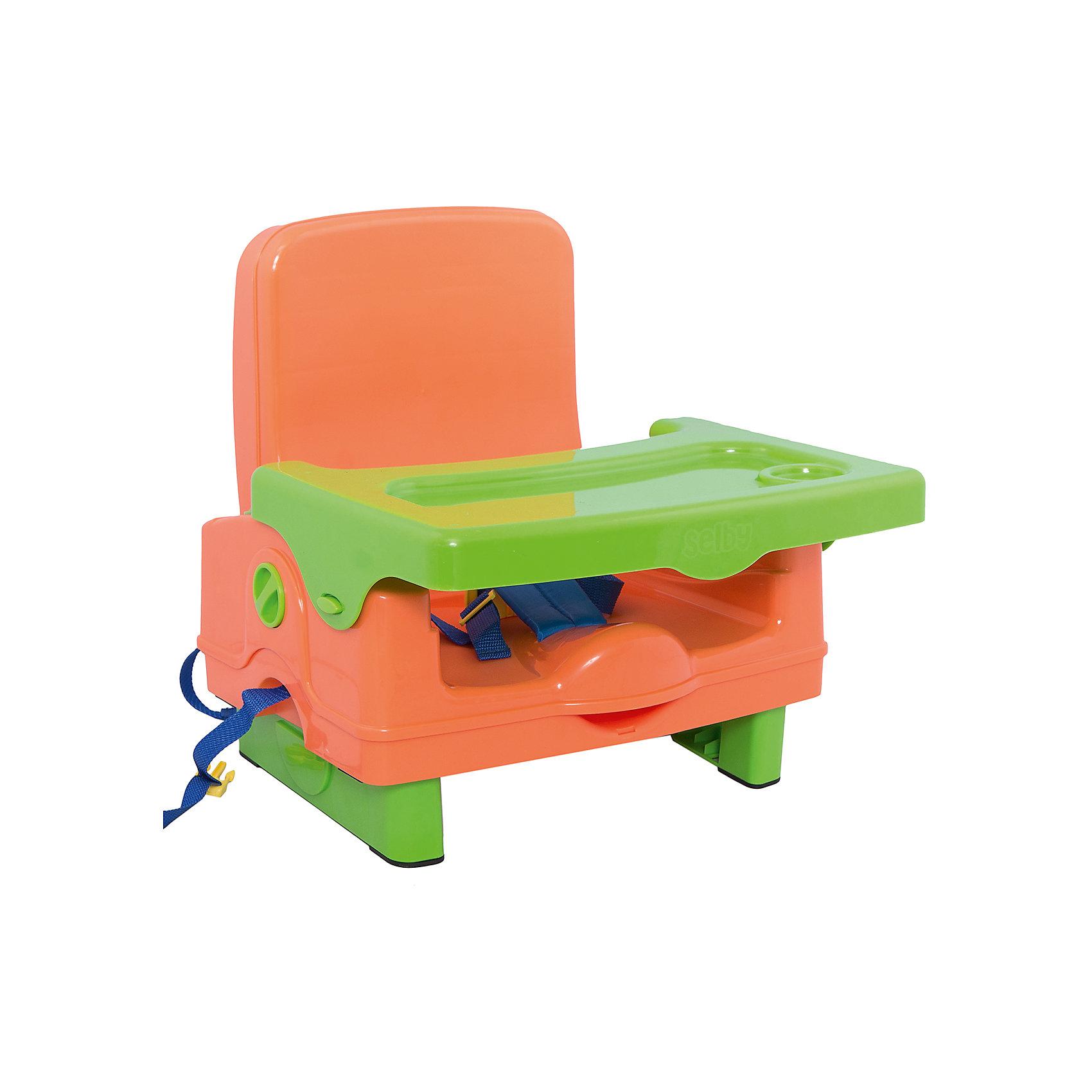 Стульчик для кормления BH-410 Selby, оранжевый/зеленыйУдобный стульчик для кормления оснащен трехточечными  ремнями безопасности и надежными ремнями для крепления к стулу. Имеет дополнительный ящик для мелочей на спинке, складывается в удобный чемоданчик. Стульчик выполнен из высококачественного прочного и легкого пластика, его удобно брать с собой в поездки и путешествия. <br><br>Дополнительная информация:<br><br>- Материал: пластик, ПЭ.<br>- Размер: 37 х 33х 39 см.<br>- Вес: 3 кг.<br>- Трехточечный  ремень безопасности.<br>- Надежные ремни для крепления к стулу.<br>- Складывается в удобный чемоданчик.<br>- Дополнительный ящик для мелочей на спинке.<br>- Съемный  столик  с углублениями для посуды<br><br>Внимание! Основным является первое фото, последующие фотографии размещены с целью показать функционал данной модели.<br><br>Стульчик для кормления BH-410 Selby, можно купить в нашем магазине.<br><br>Ширина мм: 370<br>Глубина мм: 330<br>Высота мм: 390<br>Вес г: 3000<br>Возраст от месяцев: 6<br>Возраст до месяцев: 36<br>Пол: Унисекс<br>Возраст: Детский<br>SKU: 5197370