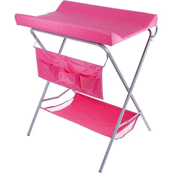Пеленальный столик, Фея, розовыйПеленальные столы<br>Характеристики:<br><br>• практичный пеленальный столик для проведения гигиенических процедур;<br>• есть возможность установить ванночку для купания новорожденного;<br>• обратите внимание: ванночка приобретается отдельно;<br>• внизу имеется тканевая корзина для детских вещей;<br>• имеется органайзер с кармашками для аксессуаров по уходу за малышом;<br>• столик компактно складывается;<br>• материал: алюминий, пластик, полиэстер;<br>• вес ребенка: до 13 кг;<br>• размер столика: 78,5х55,3х95 см;<br>• вес: 7 кг.<br><br>Компактный и практичный пеленальный столик используется во время пеленания новорожденного, проведения гигиенических процедур, смены подгузника. Дополнительно на основание столика можно установить ванночку – тогда мамочка сможет держать ровно спину в процессе купания младенца и не ощущать боли в пояснице. Доска откидная, не помешает установить ванночку. Столик для пеленания оснащен дополнительными отсеками, чтобы иметь все необходимое под рукой – корзинка внизу и боковые кармашки. Столик компактно складывается для хранения и транспортировки. <br><br>Пеленальный столик, Фея, розовый можно купить в нашем интернет-магазине.<br><br>Ширина мм: 915<br>Глубина мм: 410<br>Высота мм: 780<br>Вес г: 7000<br>Возраст от месяцев: 0<br>Возраст до месяцев: 12<br>Пол: Женский<br>Возраст: Детский<br>SKU: 5197371
