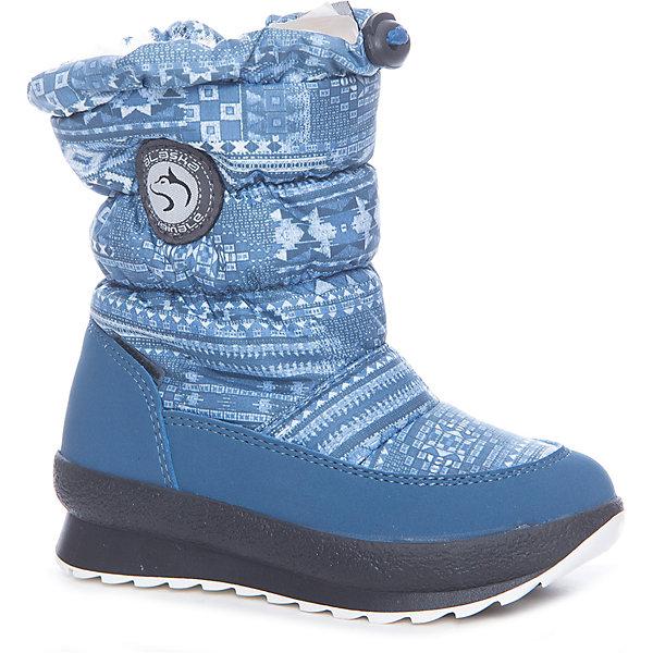 Сапоги  Alaska OriginaleДутики<br>Характеристики товара:<br><br>• цвет: синий<br>• материал верха: 54% ПЭ, 46% ПА<br>• материал подкладки: текстиль <br>• материал подошвы: термопластик<br>• температурный режим: от-25° до 0° С<br>• мембранный слой<br>• рифленая подошва<br>• застежка: молния, утяжка<br>• толстая устойчивая подошва<br>• усиленные пятка и носок<br>• страна бренда: Италия<br>• страна изготовитель: Румыния<br><br>Качественная обувь особенна важна в суровых условиях русской зимы. Чтобы не пропустить главные зимние удовольствия, нужно запастись теплой и удобной обувью! Такие сапожки обеспечат ребенку необходимый для активного отдыха комфорт, а мембранный слой позволит ножкам оставаться сухими: он выводит наружу лишнюю влагу, не пропуская жидкости внутрь. Сапожки легко надеваются и снимаются, отлично сидят на ноге. <br>Обувь от итальянского бренда Alaska Originale - это качественные товары, созданные с применением новейших технологий и с использованием как натуральных, так и высокотехнологичных материалов. Обувь отличается стильным дизайном и продуманной конструкцией. Изделие производится из качественных и проверенных материалов, которые безопасны для детей.<br><br>Сапоги от бренда Alaska Originale можно купить в нашем интернет-магазине.<br>Ширина мм: 257; Глубина мм: 180; Высота мм: 130; Вес г: 420; Цвет: синий; Возраст от месяцев: 48; Возраст до месяцев: 60; Пол: Унисекс; Возраст: Детский; Размер: 28,35,24,27,26,25,23,29,30,31,32,33,34; SKU: 5198793;