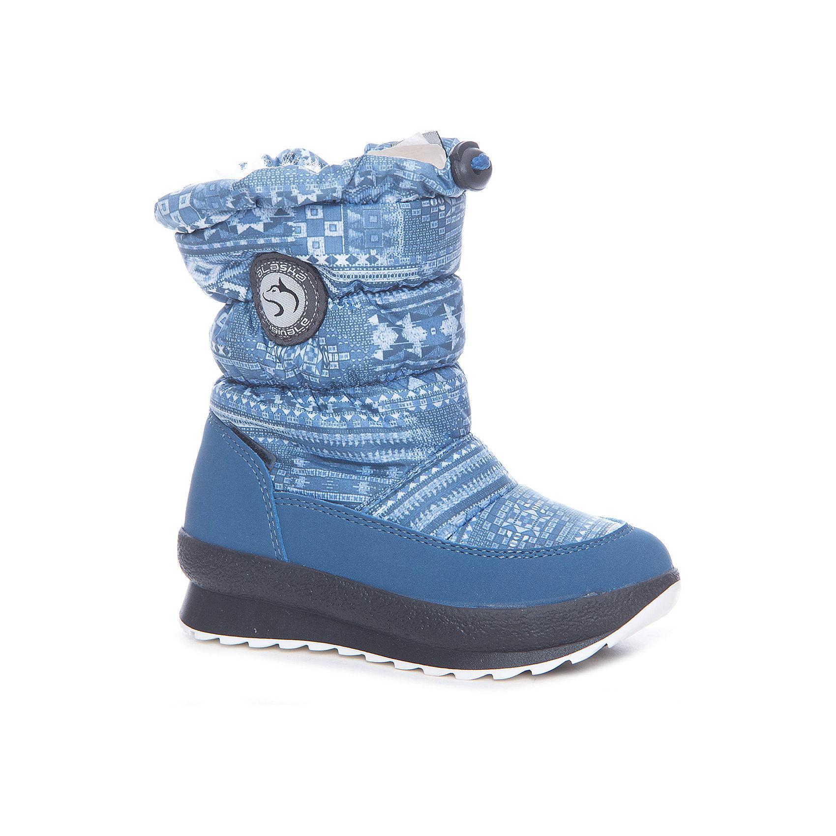Сапоги  Alaska OriginaleХарактеристики товара:<br><br>• цвет: синий<br>• материал верха: 54% ПЭ, 46% ПА<br>• материал подкладки: текстиль <br>• материал подошвы: термопластик<br>• температурный режим: от-25° до 0° С<br>• мембранный слой<br>• рифленая подошва<br>• застежка: молния, утяжка<br>• толстая устойчивая подошва<br>• усиленные пятка и носок<br>• страна бренда: Италия<br>• страна изготовитель: Румыния<br><br>Качественная обувь особенна важна в суровых условиях русской зимы. Чтобы не пропустить главные зимние удовольствия, нужно запастись теплой и удобной обувью! Такие сапожки обеспечат ребенку необходимый для активного отдыха комфорт, а мембранный слой позволит ножкам оставаться сухими: он выводит наружу лишнюю влагу, не пропуская жидкости внутрь. Сапожки легко надеваются и снимаются, отлично сидят на ноге. <br>Обувь от итальянского бренда Alaska Originale - это качественные товары, созданные с применением новейших технологий и с использованием как натуральных, так и высокотехнологичных материалов. Обувь отличается стильным дизайном и продуманной конструкцией. Изделие производится из качественных и проверенных материалов, которые безопасны для детей.<br><br>Сапоги от бренда Alaska Originale можно купить в нашем интернет-магазине.<br><br>Ширина мм: 257<br>Глубина мм: 180<br>Высота мм: 130<br>Вес г: 420<br>Цвет: синий<br>Возраст от месяцев: 21<br>Возраст до месяцев: 24<br>Пол: Унисекс<br>Возраст: Детский<br>Размер: 24,23,25,26,27<br>SKU: 5198793