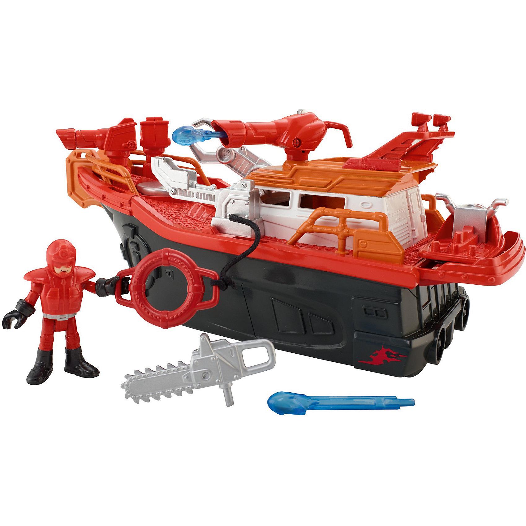 Пожарная лодка, Imaginext, Fisher Price