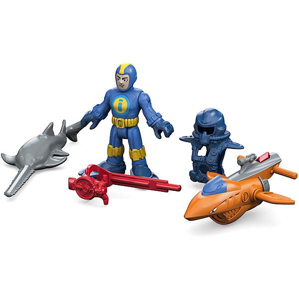 Базовой набор Океан, Imaginext, Fisher PriceИгровые наборы с фигурками<br>Характеристики:<br><br>• Вид игр: сюжетно-ролевые игры, игры на воде<br>• Пол: для мальчиков<br>• Серия: Imaginext<br>• Материал: пластик<br>• Цвет: синий, желтый, красный, оранжевый<br>• Комплектация: фигурка спасателя, снаряжение ныряльщика, рыба-пила, 1 снаряд<br>• Размеры (Д*Ш*В): 14*5*17 см<br>• Вес: от 390 г <br>• Упаковка: картонная коробка<br><br>Базовый набор Океан с аксессуарами, Imaginext, Fisher Price, в ассортименте – это игровой набор, состоящий из фигурки спасателя со снаряжением ныряльщика, рыба пила и аксессуаров от знаменитого производителя Mattel. Игрушки выполнены из качественного и безопасного пластика, устойчивого к механическим повреждениям. Все элементы окрашены нетоксичными красками. <br><br>Сюжетно-ролевые игры с наборами серии Imaginext от Fisher Price позволят окунуться вашему ребенку в увлекательный подводный мир, создавать и воспроизводить свои истории, полные захватывающих приключений и удивительных спасений.<br><br>Базовый набор Океан с аксессуарами, Imaginext, Fisher Price, в ассортименте можно купить в нашем интернет-магазине.<br>Ширина мм: 190; Глубина мм: 160; Высота мм: 40; Вес г: 240; Возраст от месяцев: 36; Возраст до месяцев: 96; Пол: Мужской; Возраст: Детский; SKU: 5200242;