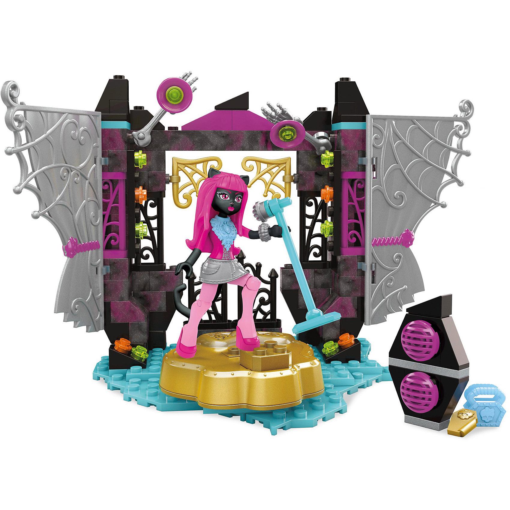 MEGA BLOKS Monster High: Игровой набор Звездная сцена, MEGA BLOKS barbie игровой набор звездная сцена из серии barbie рок принцесса