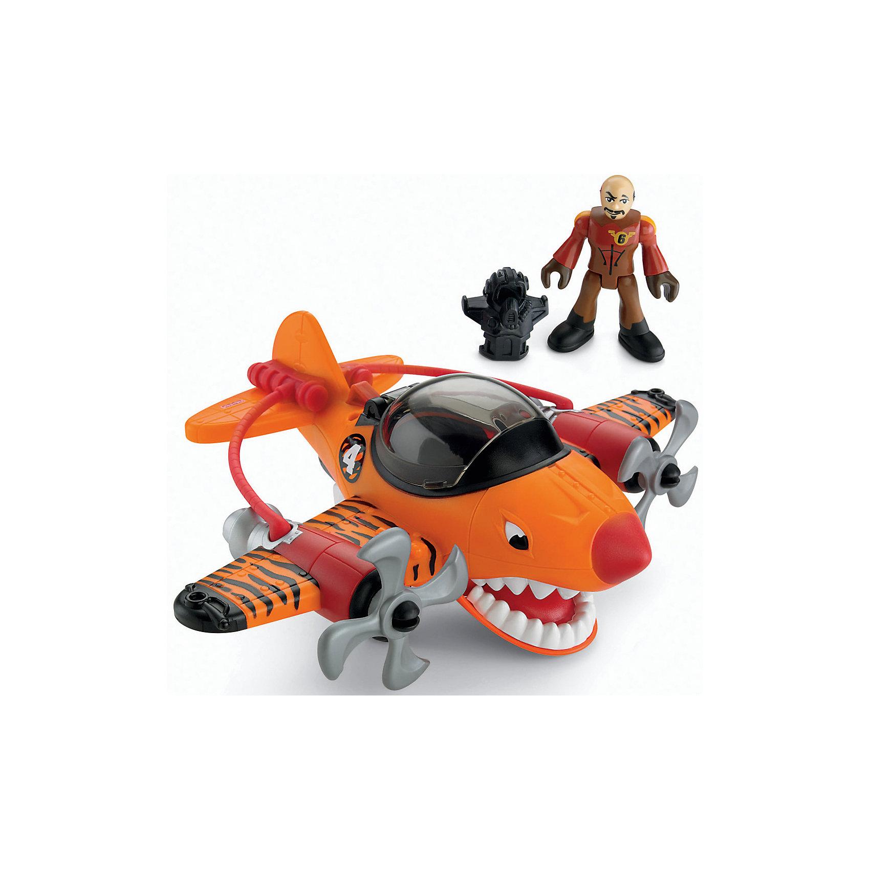 Mattel Летательный аппарат Тигровая акула, Imaginext, Fisher Price игровые наборы fisher price mattel игровой набор парящий фрегат