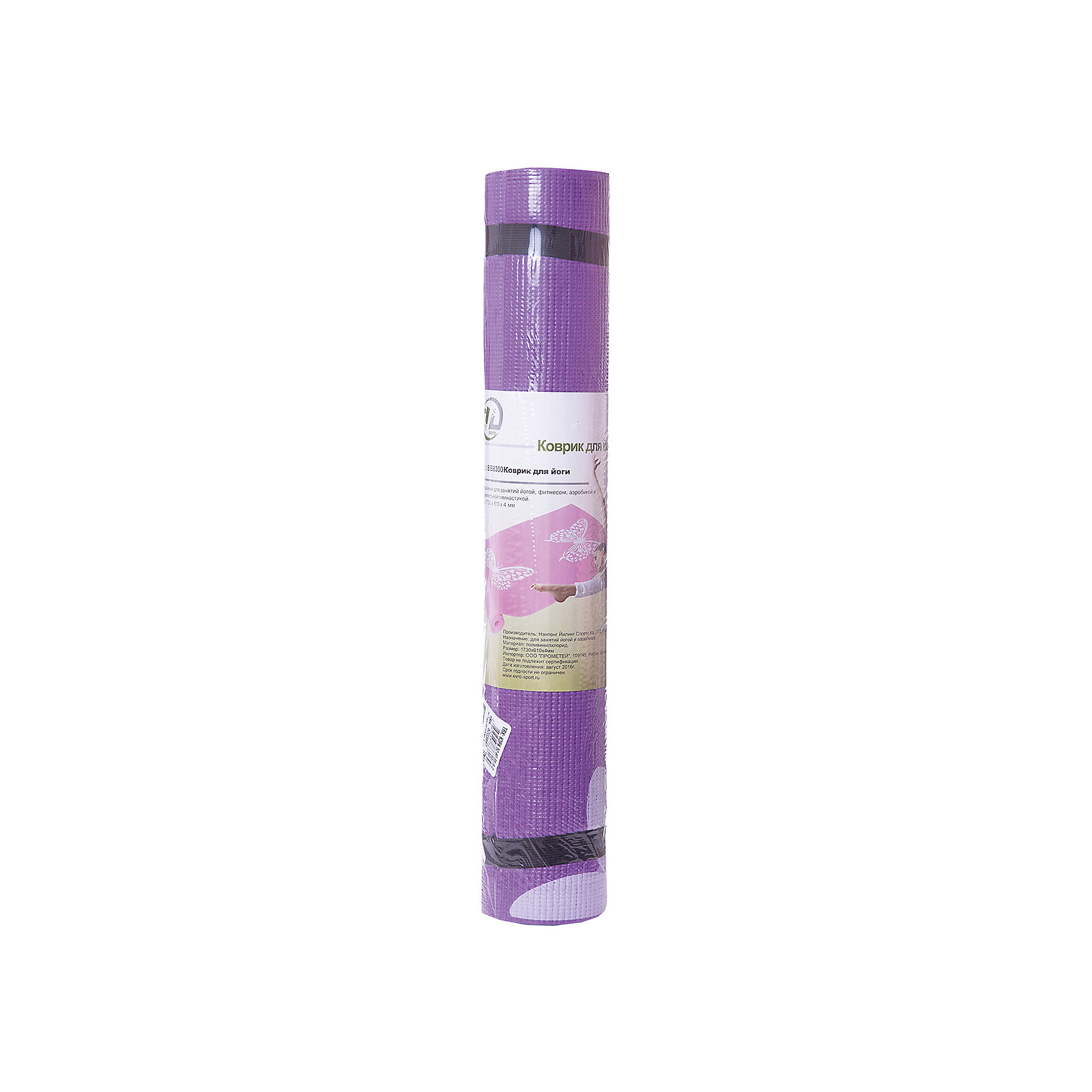Коврик для йоги  ВВ8300, Z-Sports, фиолетовый с цветамиСпортивные коврики<br>Основные характеристики<br><br>Материал: поливинилхлорид<br>Размер: 172х61х0,4см<br>Вес: 0,94кг<br><br>Упаковка: термоусадочная пленка с цветным постером<br><br>Изделие изготовлено из современного материала, мягкого, но одновременно достаточно прочного, способного выдержать сильные механические нагрузки. Коврик без дополнительных приспособлений жестко фиксируется на самой гладкой поверхности, не скользит и приятен на ощупь. Его эстетические параметры вполне соответствуют современным требованиям - на поверхности имеются рисунки. Применяется для занятий йогой, фитнесом и аэробикой как в домашних условиях, так и в спортзалах. <br><br>Преимущества коврика BB8300:<br>- противоскользящая поверхность;<br>- оптимальный размер и вес;<br>- приятный современный дизайн и расцветка;<br>- его легко мыть и хранить, скатав в рулон.<br><br>Ширина мм: 100<br>Глубина мм: 100<br>Высота мм: 610<br>Вес г: 1000<br>Возраст от месяцев: 36<br>Возраст до месяцев: 192<br>Пол: Унисекс<br>Возраст: Детский<br>SKU: 5203667