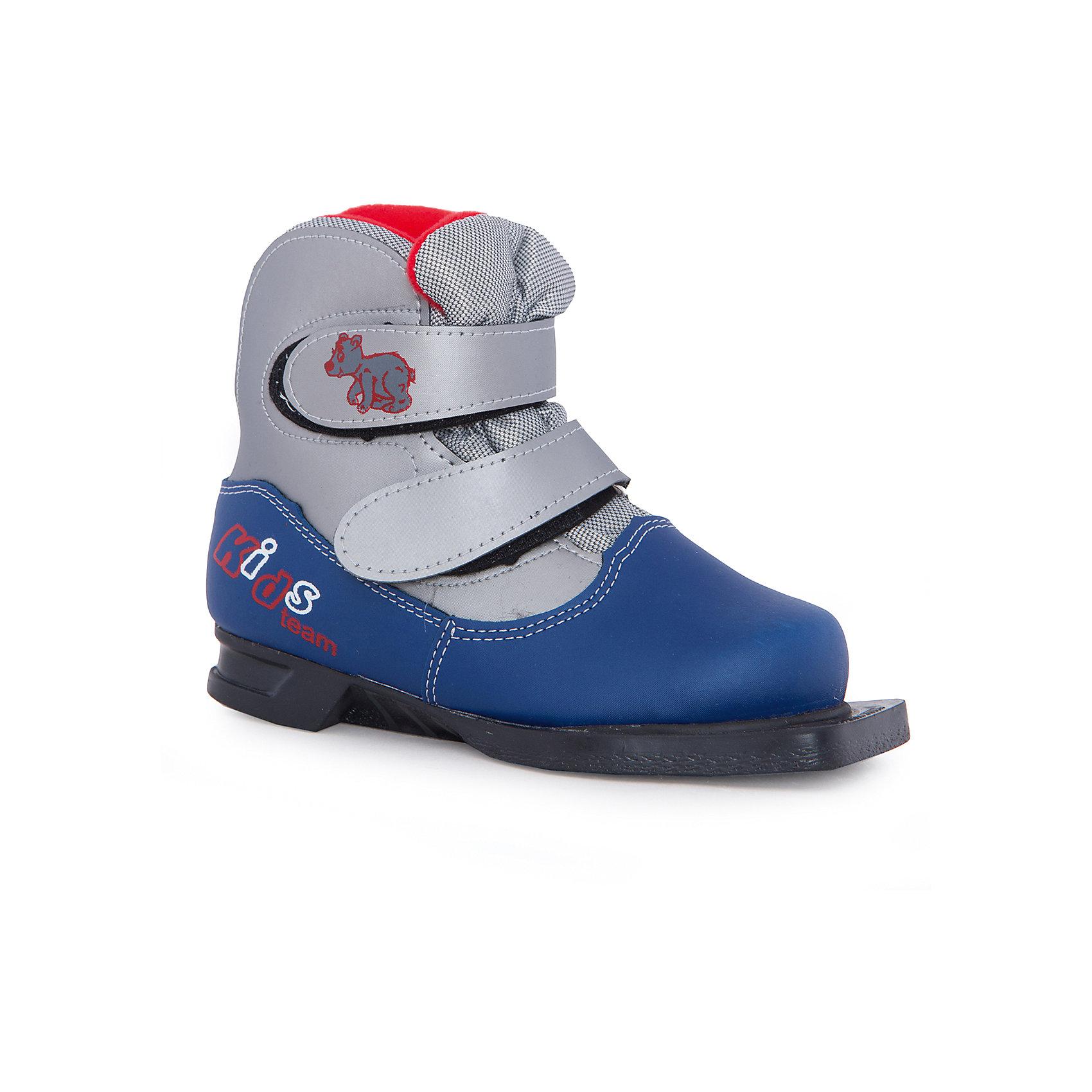 Ботинки лыжные NN75, МАРАКС, синий-сереброЛыжи и сноуборды<br>Детские ботинки для активного отдыха под крепления NN-75.<br>Верх - высококачественные синтетические материалы,<br>протестированные при температуре минус 25'C.<br>Внутри – утеплитель из искусственного меха. <br>Язычок ботинка с защитой от попадания снега и отсутствие шнурков – идеальное решение для<br>юных лыжников. <br>Термопластичный анатомический задник. <br>Подошва - ТЭП<br>Цвета: серый/желтый<br>Размер: 30<br>Срана-производитель: Россия<br><br>Ширина мм: 220<br>Глубина мм: 110<br>Высота мм: 300<br>Вес г: 815<br>Цвет: разноцветный<br>Возраст от месяцев: 72<br>Возраст до месяцев: 84<br>Пол: Унисекс<br>Возраст: Детский<br>Размер: 33,31,32,30<br>SKU: 5204706