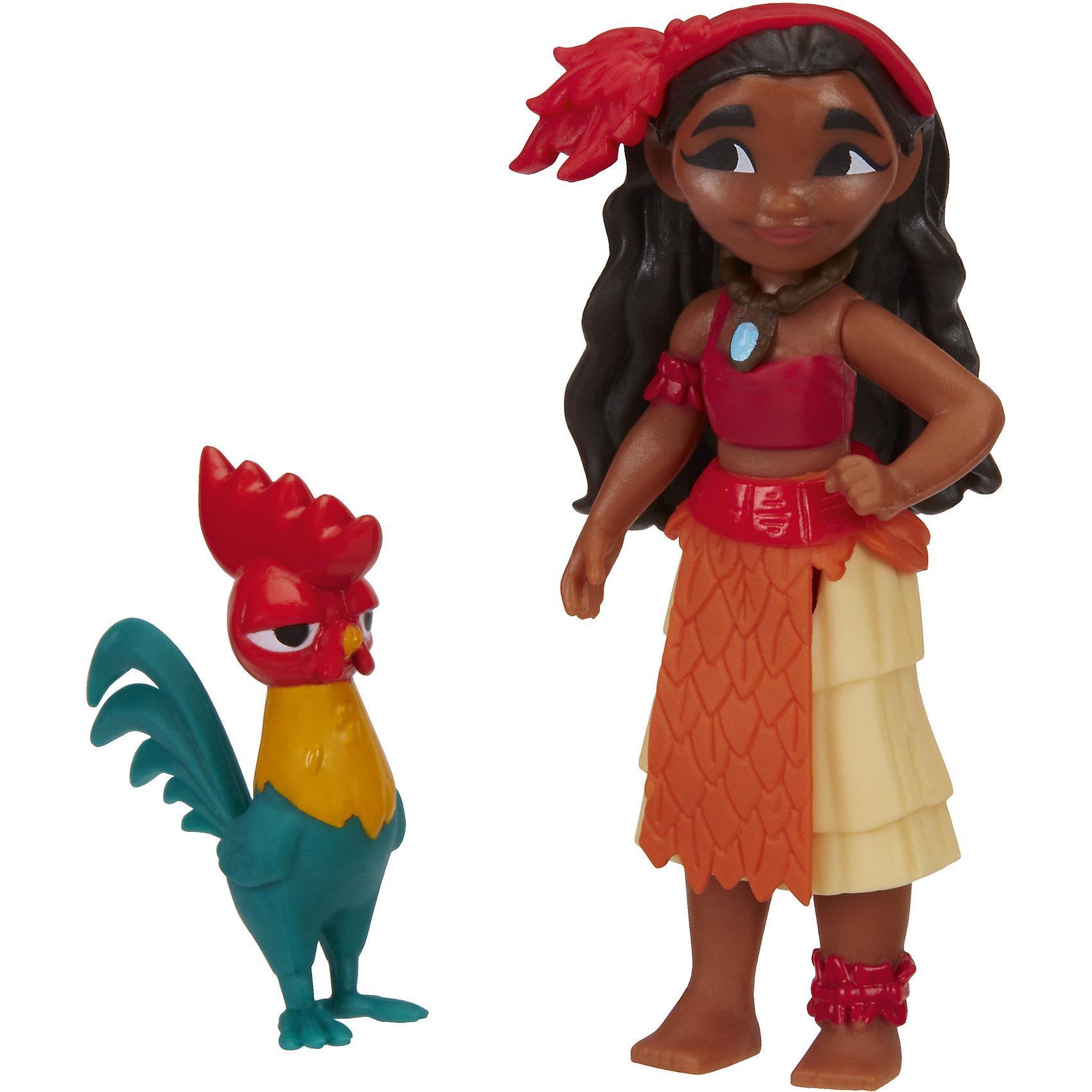 Маленькие куклы Моана и Хей-Хей, МоанаЭта кукла высотой 7,6 см идет в наборе с вашим любимым героем мультфильма и маленьким другом. Вместе с Моаной в наборе Хей-Хей.<br><br>Ширина мм: 57<br>Глубина мм: 127<br>Высота мм: 152<br>Вес г: 62<br>Возраст от месяцев: 36<br>Возраст до месяцев: 144<br>Пол: Женский<br>Возраст: Детский<br>SKU: 5205210