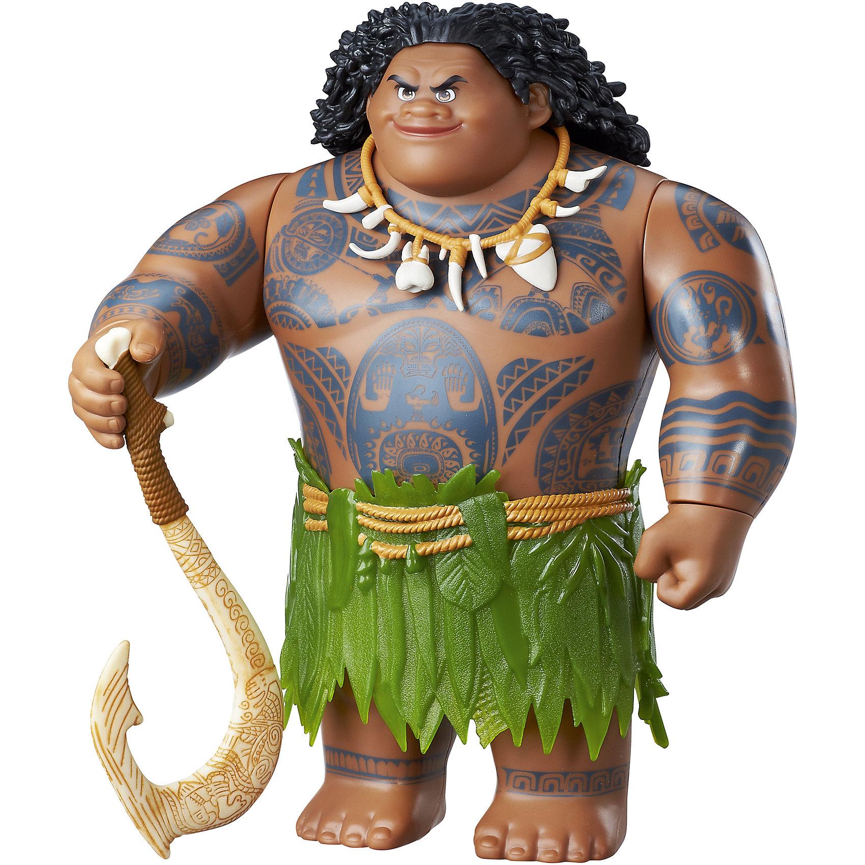 Фигурка Мауи, МоанаИгрушки<br>Фигурка Мауи, Моана, Hasbro (Хасбро)<br><br>Характеристики:<br> <br>• маленькая копия полюбившегося персонажа<br>• высокая детализация<br>• материал: пластик<br>• размер упаковки: 32,5х10,6х22,5 см<br>• в комплекте: Мауи, рыболовный крюк<br>• высота игрушки: 25 см<br><br>Полубог Мауи с рыболовным крюком понравится любителям мультфильма Моана. Игрушка имеет высокую детализацию, что, бесспорно, впечатлит ребенка и поможет ему придумать новые интересные истории про полюбившегося героя. Игрушка изготовлена из прочного нетоксичного пластика, безвредного для ребенка.<br><br>Фигурку Мауи, Hasbro (Хасбро), Моана вы можете купить в нашем интернет-магазине.<br><br>Ширина мм: 106<br>Глубина мм: 225<br>Высота мм: 325<br>Вес г: 913<br>Возраст от месяцев: 36<br>Возраст до месяцев: 144<br>Пол: Женский<br>Возраст: Детский<br>SKU: 5205214