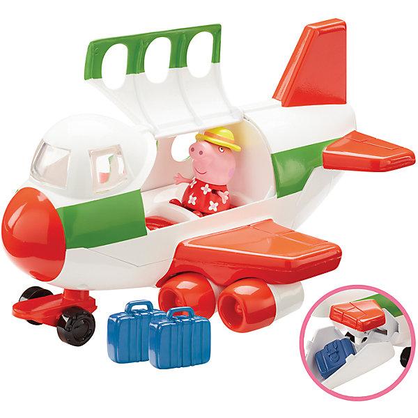 Игровой набор Самолет, Peppa PigИгрушки<br>Игровой набор Самолет, Peppa Pig (Свинка Пеппа).<br><br>Характеристика:<br><br>• Материал: пластик.  <br>• Размер упаковки: 18х20х29 см. <br>• Размер самолета: 24х15,5х13 см.<br>• Размер чемодана: 3,5х1,5х3,3 см.<br>• Высота фигурки Свинки Пеппы: 5,5 см.<br>• Комплектация: фигурка Свинки Пеппы в шляпке, самолет, 2 чемодана. <br>• Голова, руки, ноги фигурки подвижные. <br>• Кабина самолета открывается. <br><br>Очаровательная Пеппа отправляется в путешествие! Хочешь присоединиться к ней? Тогда скорее запрыгивай в кабину, клади свой чемодан в багажное отделение и выбирай маршрут. В наборе есть все необходимое для увлекательной поездки и отличного отдыха! <br>Собери все наборы Peppa Pig, проигрывай любимые моменты из мультфильмов или придумывай свои забавные истории!<br>Все детали набора изготовлены из высококачественных нетоксичных материалов безопасных для детей.<br><br>Игровой набор Самолет, Peppa Pig (Свинка Пеппа) можно купить в нашем интернет-магазине.<br>Ширина мм: 290; Глубина мм: 195; Высота мм: 180; Вес г: 691; Возраст от месяцев: 36; Возраст до месяцев: 2147483647; Пол: Унисекс; Возраст: Детский; SKU: 5211674;
