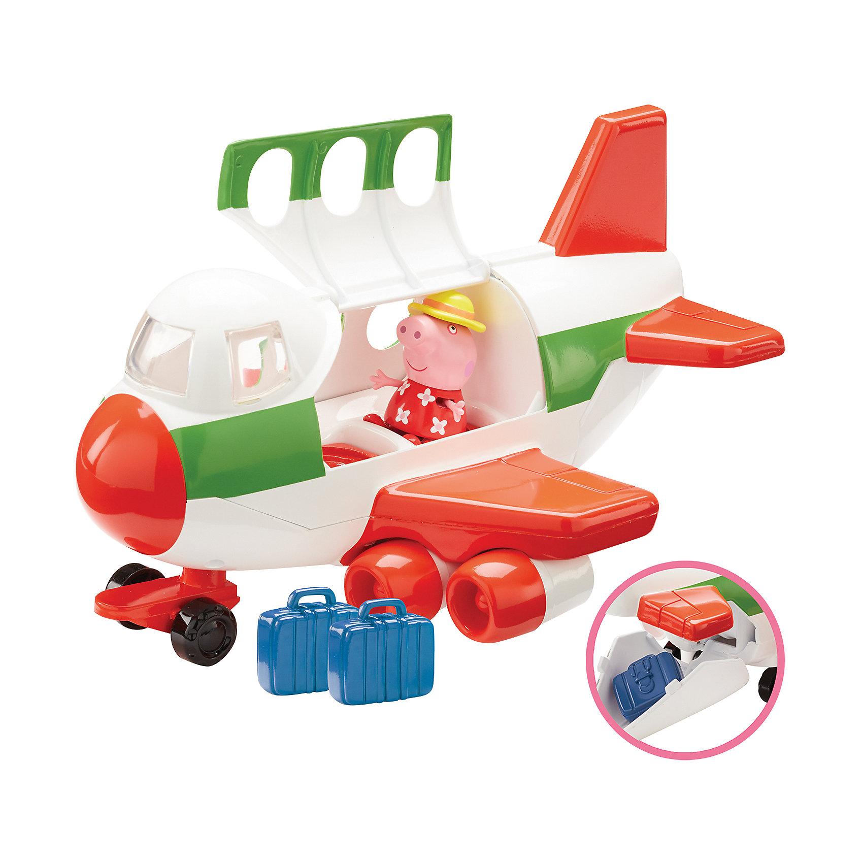 Игровой набор Самолет, Peppa PigИгрушки<br>Игровой набор Самолет, Peppa Pig (Свинка Пеппа).<br><br>Характеристика:<br><br>• Материал: пластик.  <br>• Размер упаковки: 18х20х29 см. <br>• Размер самолета: 24х15,5х13 см.<br>• Размер чемодана: 3,5х1,5х3,3 см.<br>• Высота фигурки Свинки Пеппы: 5,5 см.<br>• Комплектация: фигурка Свинки Пеппы в шляпке, самолет, 2 чемодана. <br>• Голова, руки, ноги фигурки подвижные. <br>• Кабина самолета открывается. <br><br>Очаровательная Пеппа отправляется в путешествие! Хочешь присоединиться к ней? Тогда скорее запрыгивай в кабину, клади свой чемодан в багажное отделение и выбирай маршрут. В наборе есть все необходимое для увлекательной поездки и отличного отдыха! <br>Собери все наборы Peppa Pig, проигрывай любимые моменты из мультфильмов или придумывай свои забавные истории!<br>Все детали набора изготовлены из высококачественных нетоксичных материалов безопасных для детей.<br><br>Игровой набор Самолет, Peppa Pig (Свинка Пеппа) можно купить в нашем интернет-магазине.<br><br>Ширина мм: 290<br>Глубина мм: 195<br>Высота мм: 180<br>Вес г: 691<br>Возраст от месяцев: 36<br>Возраст до месяцев: 2147483647<br>Пол: Унисекс<br>Возраст: Детский<br>SKU: 5211674