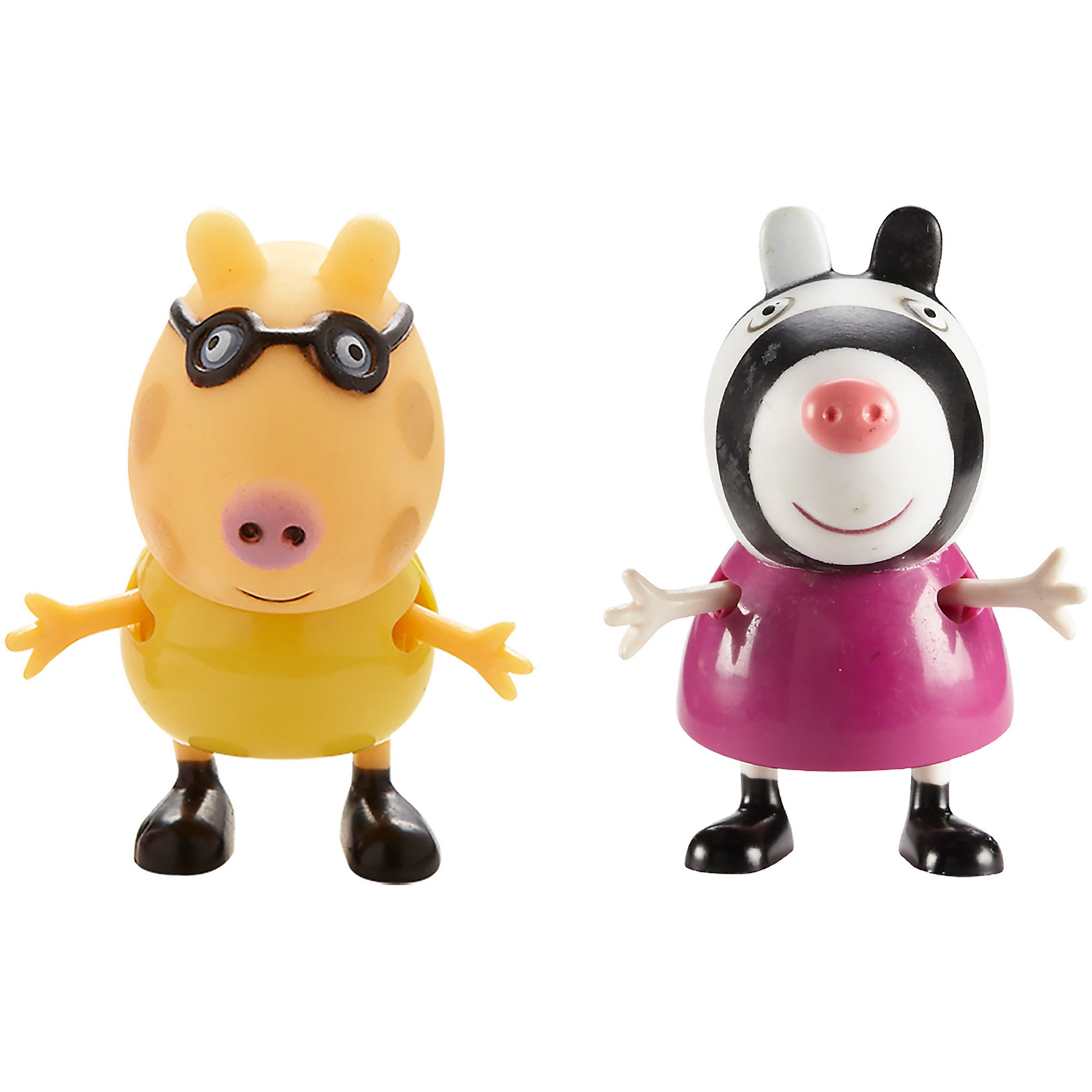 Игровой набор Педро и Зои, Peppa PigИгрушки<br>Игровой набор Педро и Зои, Peppa Pig (Свинка Пеппа). <br><br>Характеристика:<br><br>• Материал: пластик.  <br>• Размер упаковки: 9х16х5 см. <br>• Высота фигурок: 5,5 см.  <br>• Голова, руки, ноги фигурок подвижные. <br>• 2 фигурки в комплекте. <br><br>Этот набор обязательно порадует всех любителей мультсериала Peppa Pig. Яркие фигурки Пони Педро и Зебры Зои выполнены из экологичного пластика, прекрасно детализированы и реалистично раскрашены - очень похожи на героев мультфильма. Собери все фигурки и придумай свои увлекательные и забавные истории с любимыми персонажами!<br><br>Игровой набор Педро и Зои, Peppa Pig (Свинка Пеппа), можно купить в нашем интернет-магазине.<br><br>Ширина мм: 90<br>Глубина мм: 160<br>Высота мм: 50<br>Вес г: 60<br>Возраст от месяцев: 36<br>Возраст до месяцев: 2147483647<br>Пол: Унисекс<br>Возраст: Детский<br>SKU: 5211676
