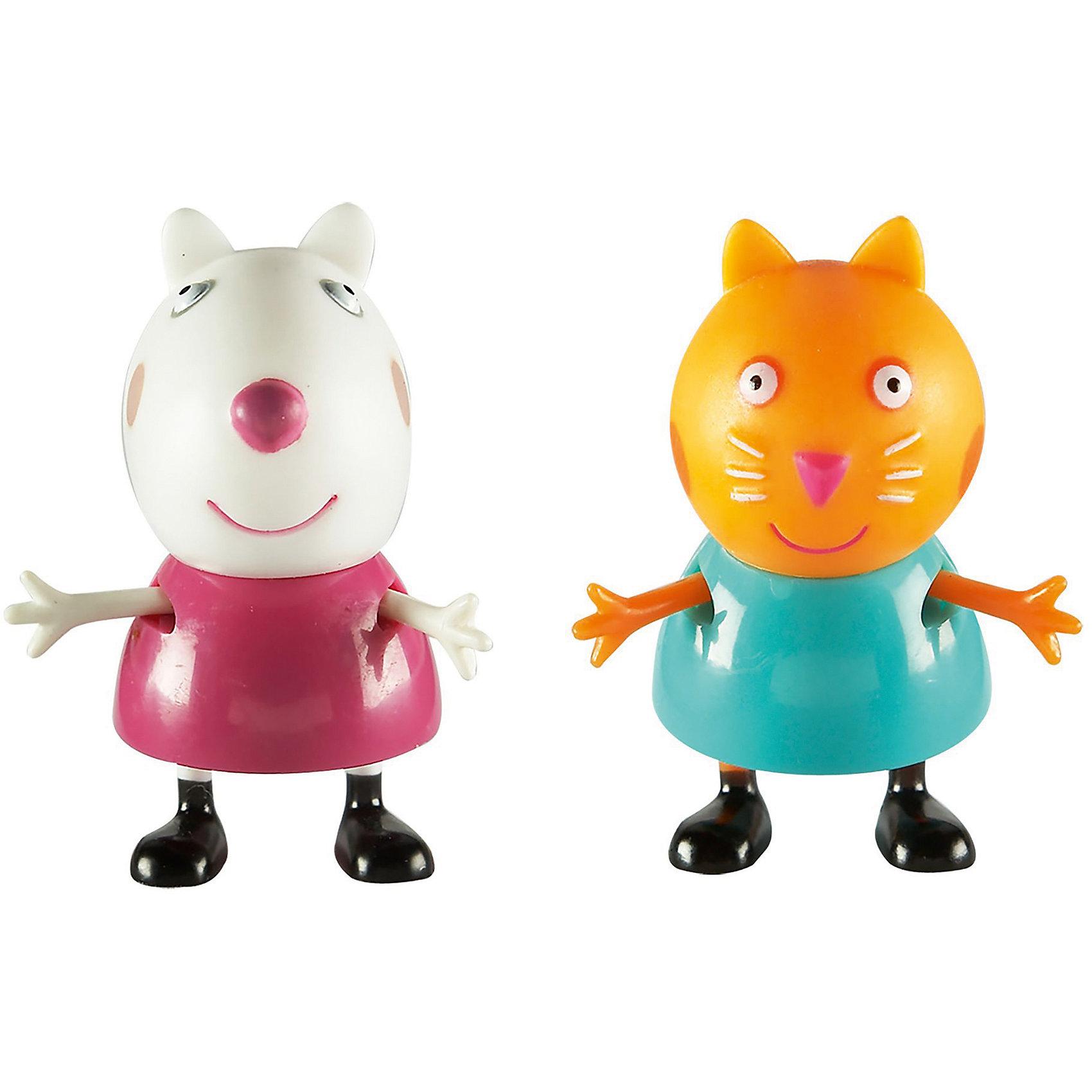 Игровой набор Сьюзи и Кенди, Peppa PigИгровой набор Сьюзи и Кенди, Peppa Pig (Свинка Пеппа). <br><br>Характеристика:<br><br>• Материал: пластик.  <br>• Размер упаковки: 9х16х5 см. <br>• Высота фигурок: 5,5 см.  <br>• Голова, руки, ноги фигурок подвижные. <br>• 2 фигурки в комплекте. <br><br>Этот набор обязательно порадует всех любителей мультсериала Peppa Pig. Яркие фигурки Овечки Сьюзи и Котенка Кенди выполнены из экологичного пластика, прекрасно детализированы и реалистично раскрашены - очень похожи на героев мультфильма. Собери все фигурки и придумай свои увлекательные и забавные истории с любимыми персонажами!<br><br>Игровой набор Сьюзи и Кенди, Peppa Pig (Свинка Пеппа), можно купить в нашем интернет-магазине.<br><br>Ширина мм: 95<br>Глубина мм: 155<br>Высота мм: 50<br>Вес г: 60<br>Возраст от месяцев: 36<br>Возраст до месяцев: 2147483647<br>Пол: Унисекс<br>Возраст: Детский<br>SKU: 5211677