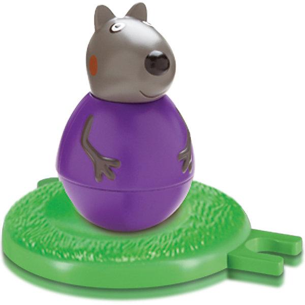 Фигурка-неваляшка щенок Денни, Peppa PigКоллекционные и игровые фигурки<br>Фигурка-неваляшка щенок Денни, Peppa Pig (Свинка Пеппа). <br><br>Характеристика:<br><br>• Материал: пластик.  <br>• Размер упаковки: 15х6х17 см. <br>• Диаметр игрового поля: 8 см.<br>• Размер фигурки: 7,8х4,5 см.<br>• Комплектация: фигурка-неваляшка, подставка. <br><br>Фигурка-неваляшка в виде щенка Дэнни, героя мультсериала Peppa Pig, обязательно понравится малышам! Надо лишь покрутить фигурку на полу и озорной Дэнни закрутится в веселом танце. Специальная подставка позволяет соединять фигурки с другими наборами серии. Собери все героев любимого мультфильма и устрой потрясающее танцевальное представление! <br><br>Фигурку-неваляшку Щенок Денни, Peppa Pig (Свинка Пеппа), можно купить в нашем интернет-магазине.<br><br>Ширина мм: 150<br>Глубина мм: 60<br>Высота мм: 170<br>Вес г: 158<br>Возраст от месяцев: 36<br>Возраст до месяцев: 2147483647<br>Пол: Унисекс<br>Возраст: Детский<br>SKU: 5211678