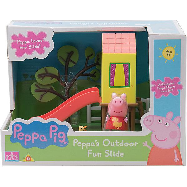 Игровой набор Площадка Домик с горкой, Peppa PigИгрушки<br>Игровой набор Площадка. Домик с горкой, Peppa Pig (Свинка Пеппа). <br><br>Характеристика:<br><br>• Материал: пластик.  <br>• Размер упаковки: 21х62х15 см. <br>• Размер игровой площадки: 19х14х13,5 см.<br>• Размер фигурки: 5,5<br>• Комплектация: фигурка, площадка с горкой. <br>• Голова, руки, ноги фигурки подвижные. <br><br>Покатайся на горке вместе с очаровательной Пеппой, героиней известного мультсериала Peppa Pig. В этом замечательном наборе есть все для веселой прогулки и развлечений!<br>Игрушка изготовлена из экологичных нетоксичных материалов безопасных для детей.<br><br>Игровой набор Площадка. Домик с горкой, Peppa Pig (Свинка Пеппа), можно купить в нашем интернет-магазине.<br><br>Ширина мм: 212<br>Глубина мм: 162<br>Высота мм: 150<br>Вес г: 320<br>Возраст от месяцев: 36<br>Возраст до месяцев: 2147483647<br>Пол: Унисекс<br>Возраст: Детский<br>SKU: 5211680