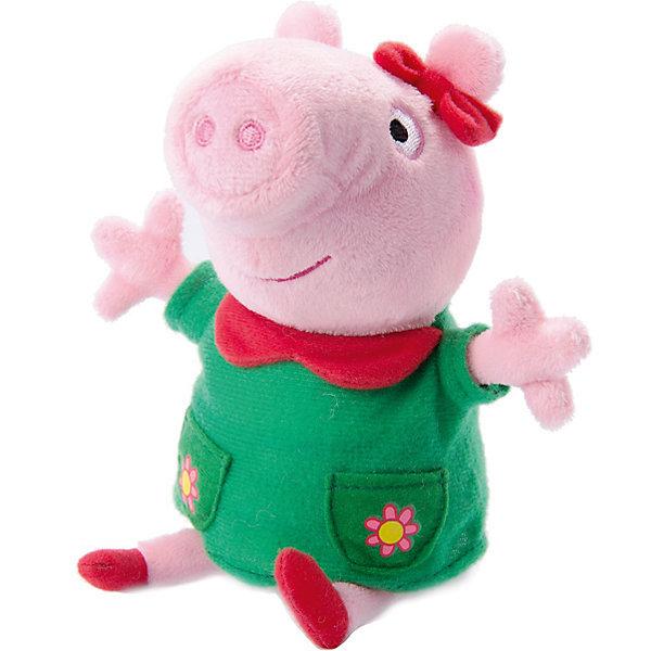 Купить Мягкая игрушка Пеппа модница озвученная , 20 см, Peppa Pig, Росмэн, Китай, Унисекс
